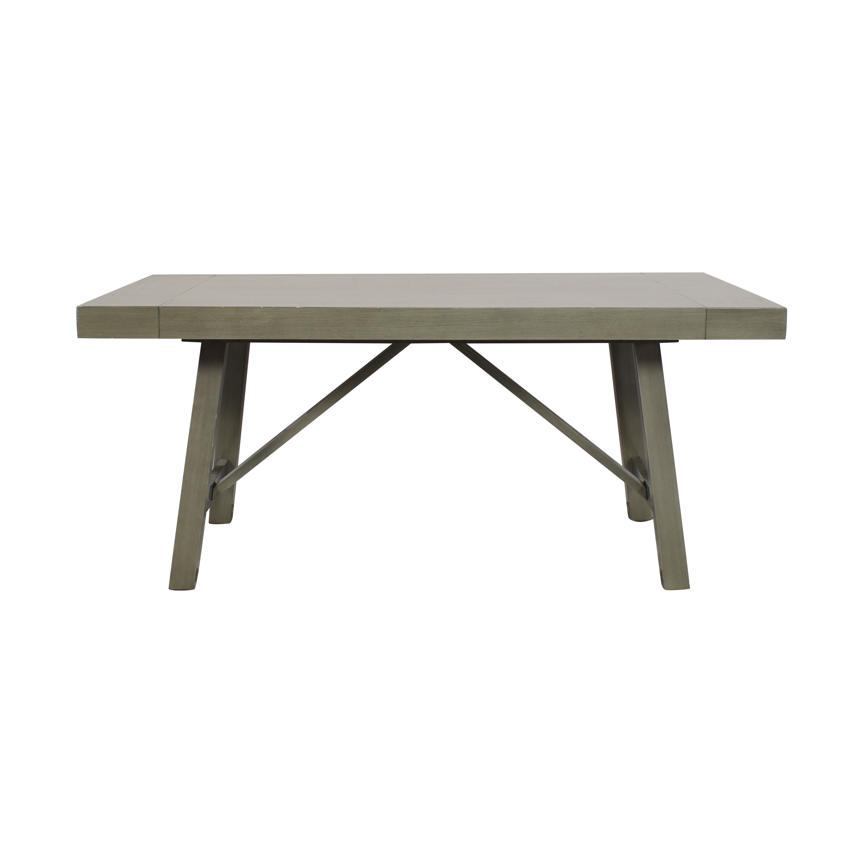 Standard Furniture Standard Furniture Omaha Extendable Trestle Dining Table gray