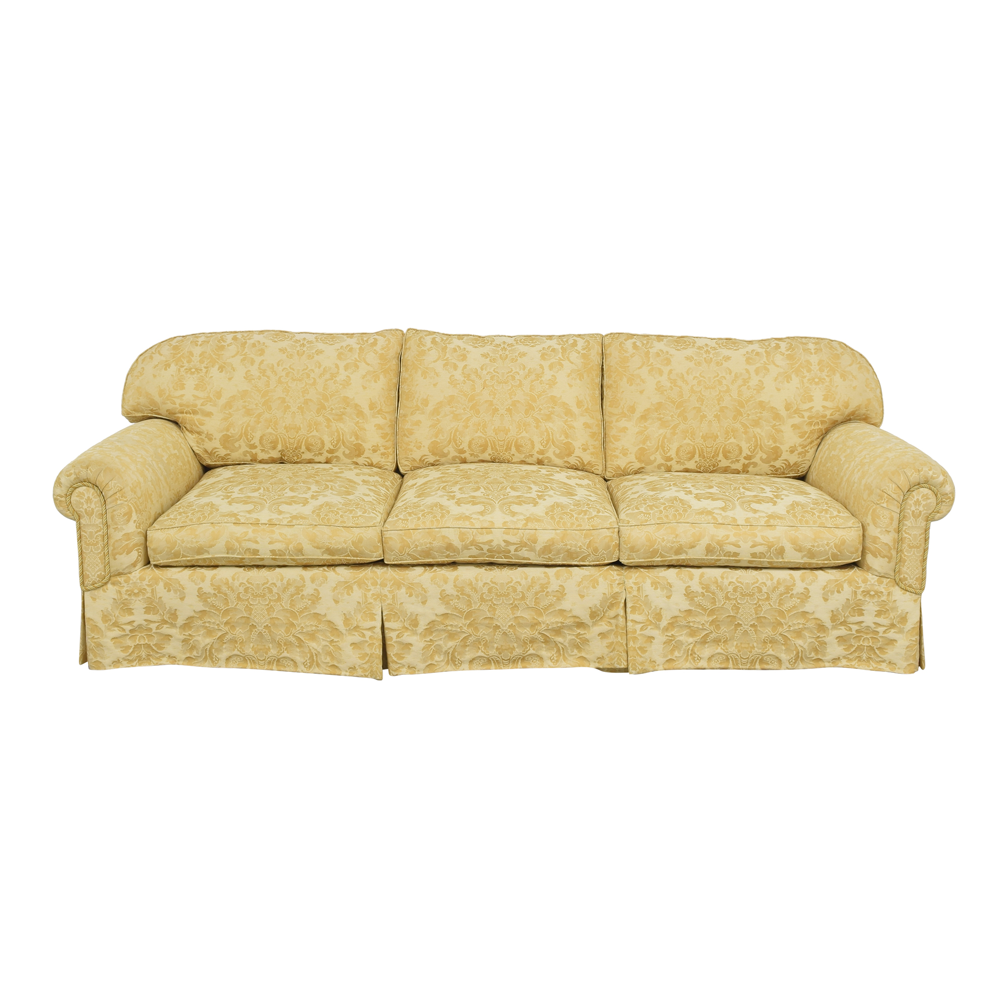 Damask Skirted Sofa dimensions