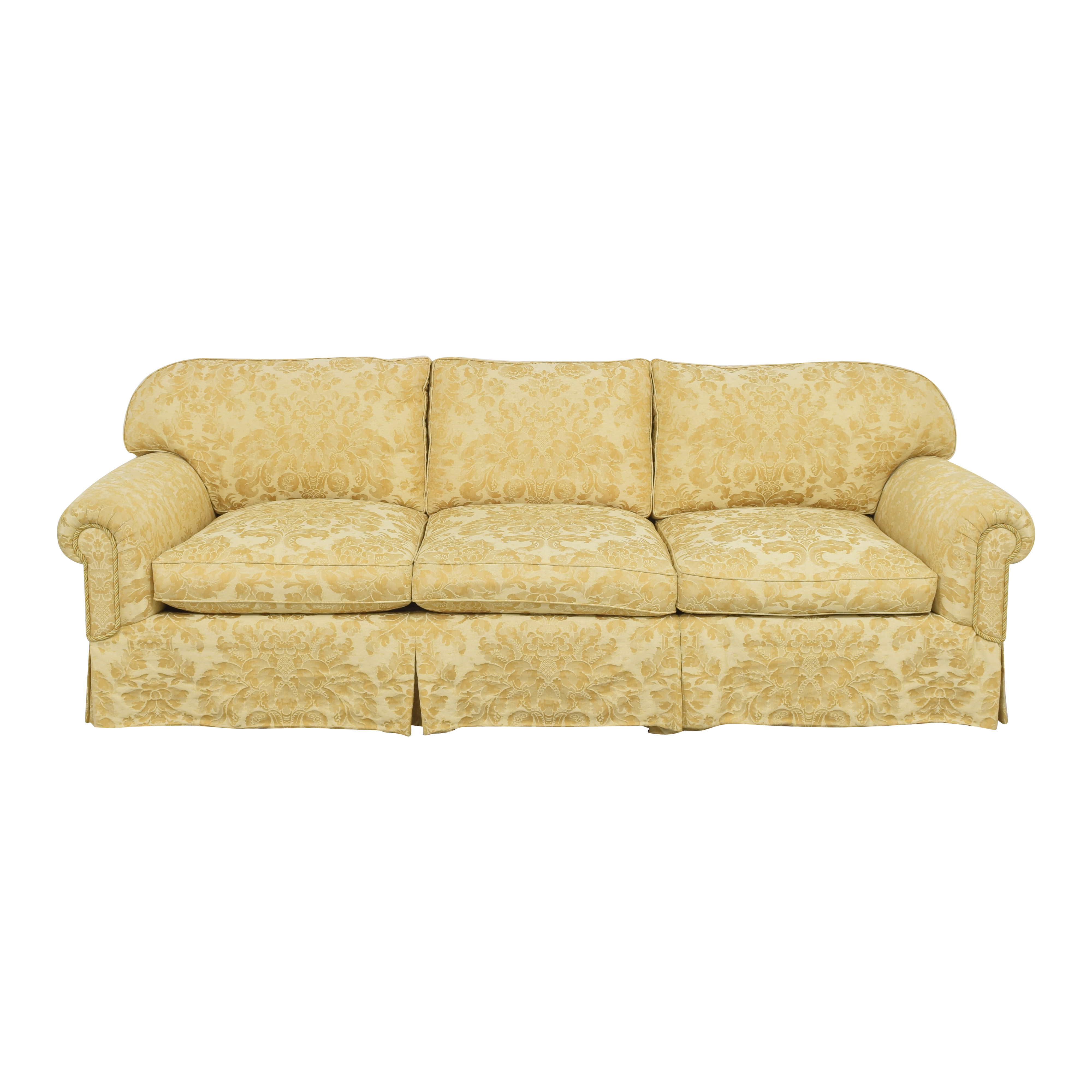 Damask Skirted Sofa