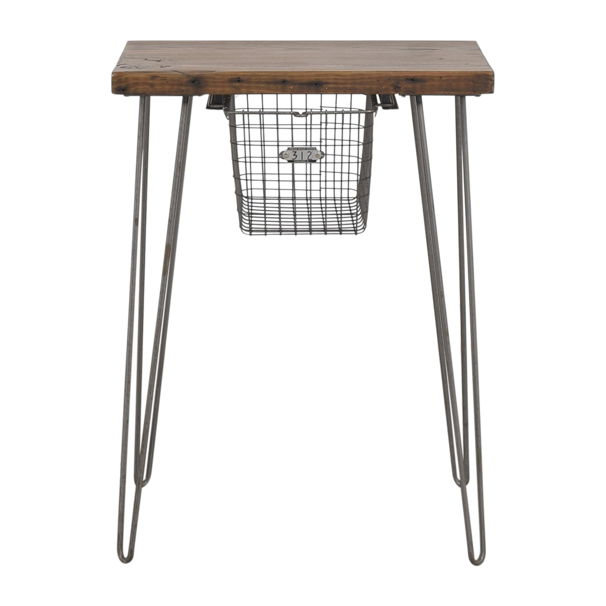Urban Wood Goods Urban Wood Goods Custom Table with Locker Basket on sale