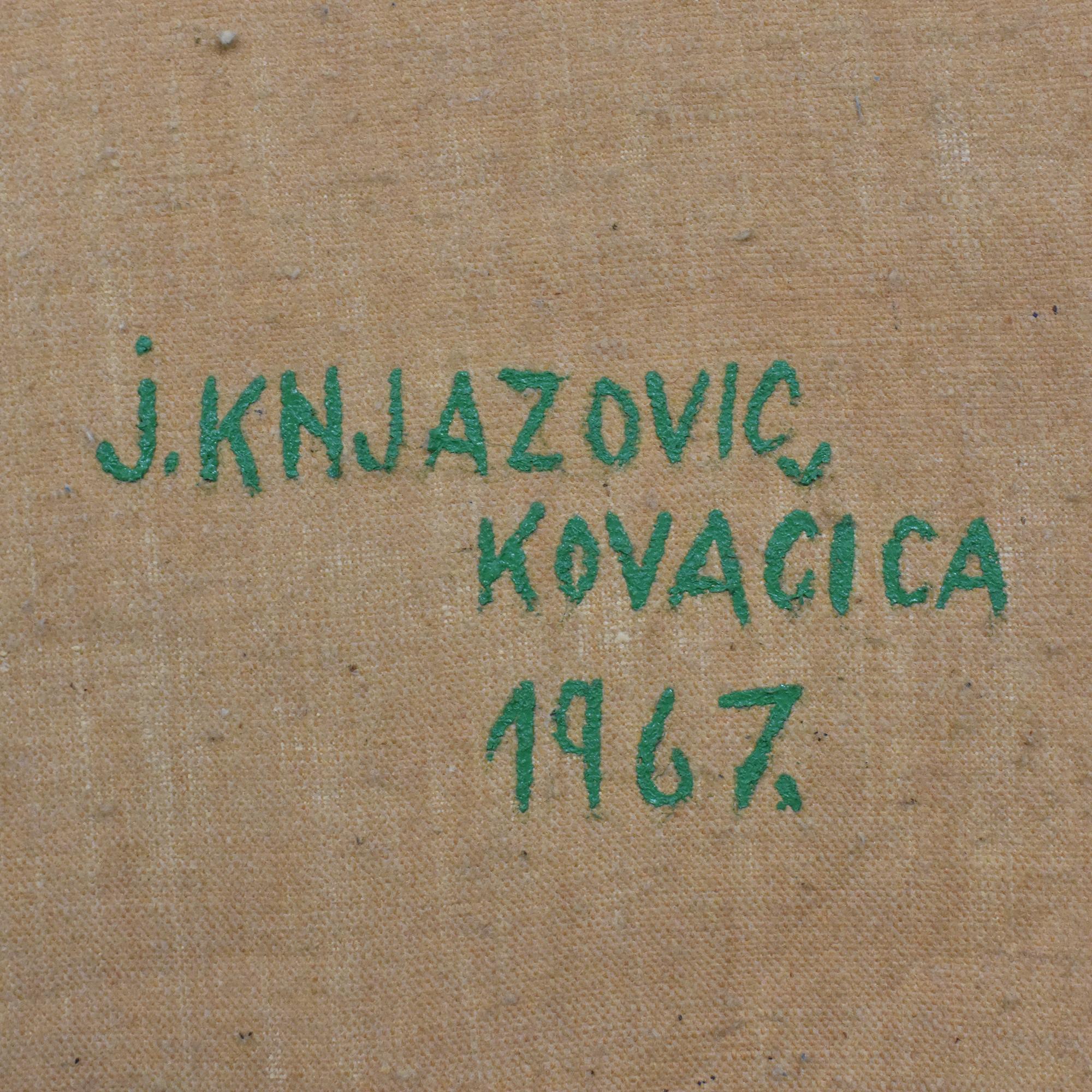Jan Knjazovic Framed Chicken Painting on sale