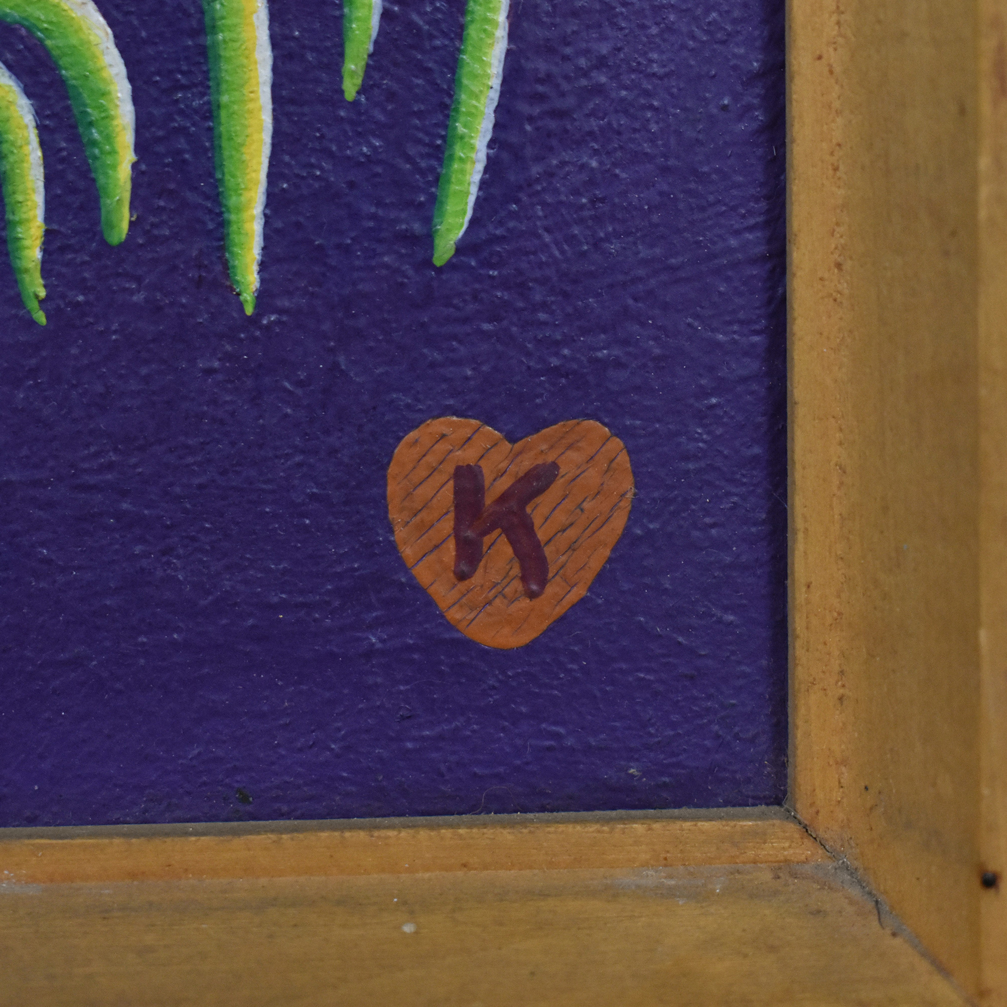 Jan Knjazovic Framed Chicken Painting dimensions