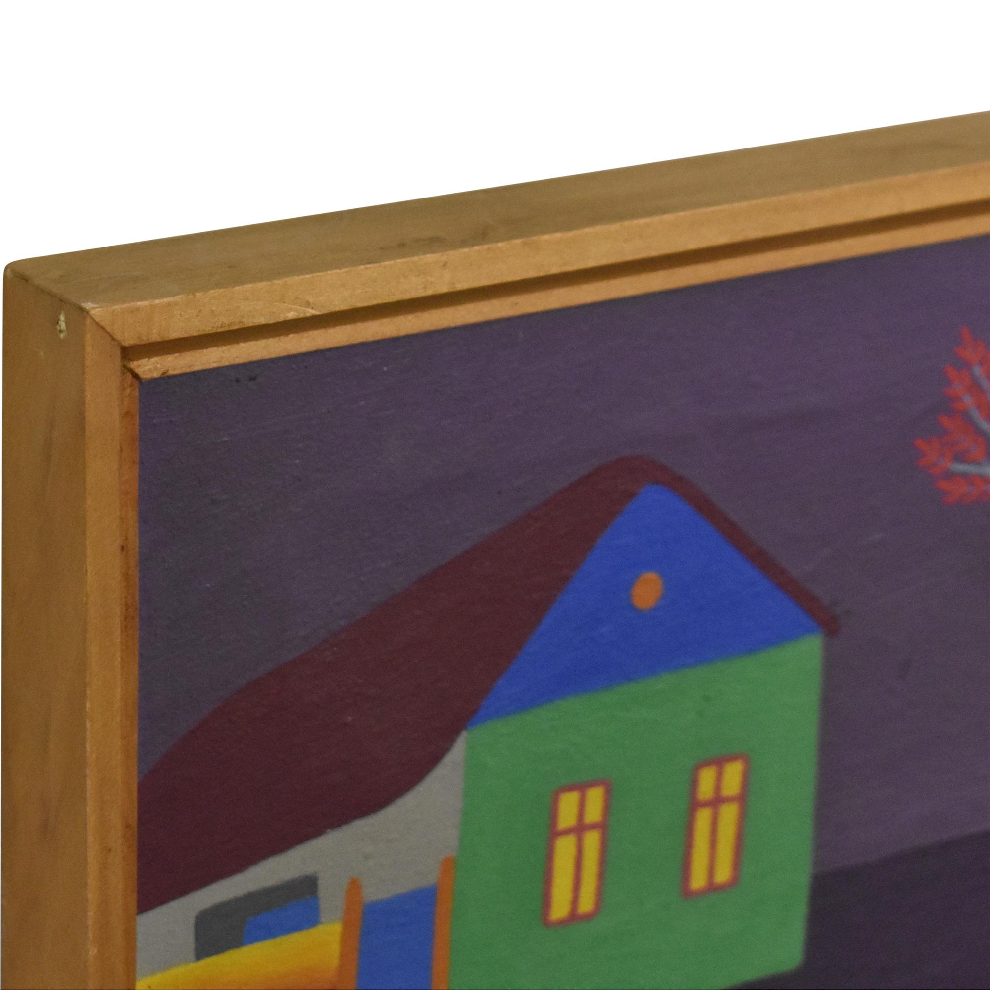 Jan Knjazovic Framed Chicken Painting price