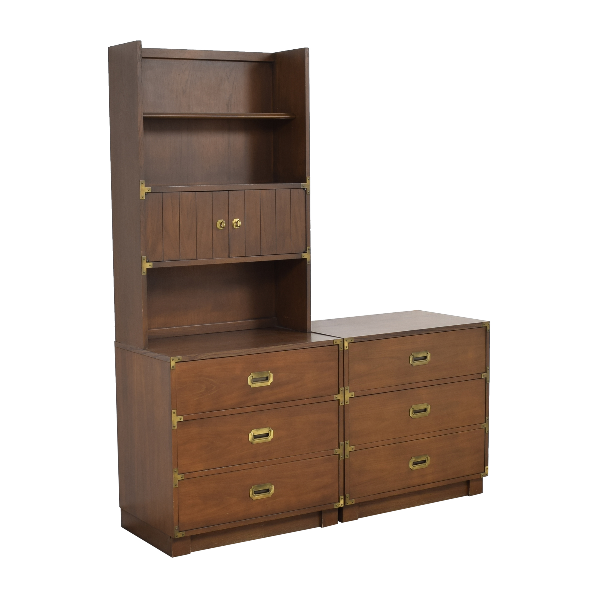 Drexel Drexel Firstmate Three Drawer Dressers with Hutch discount