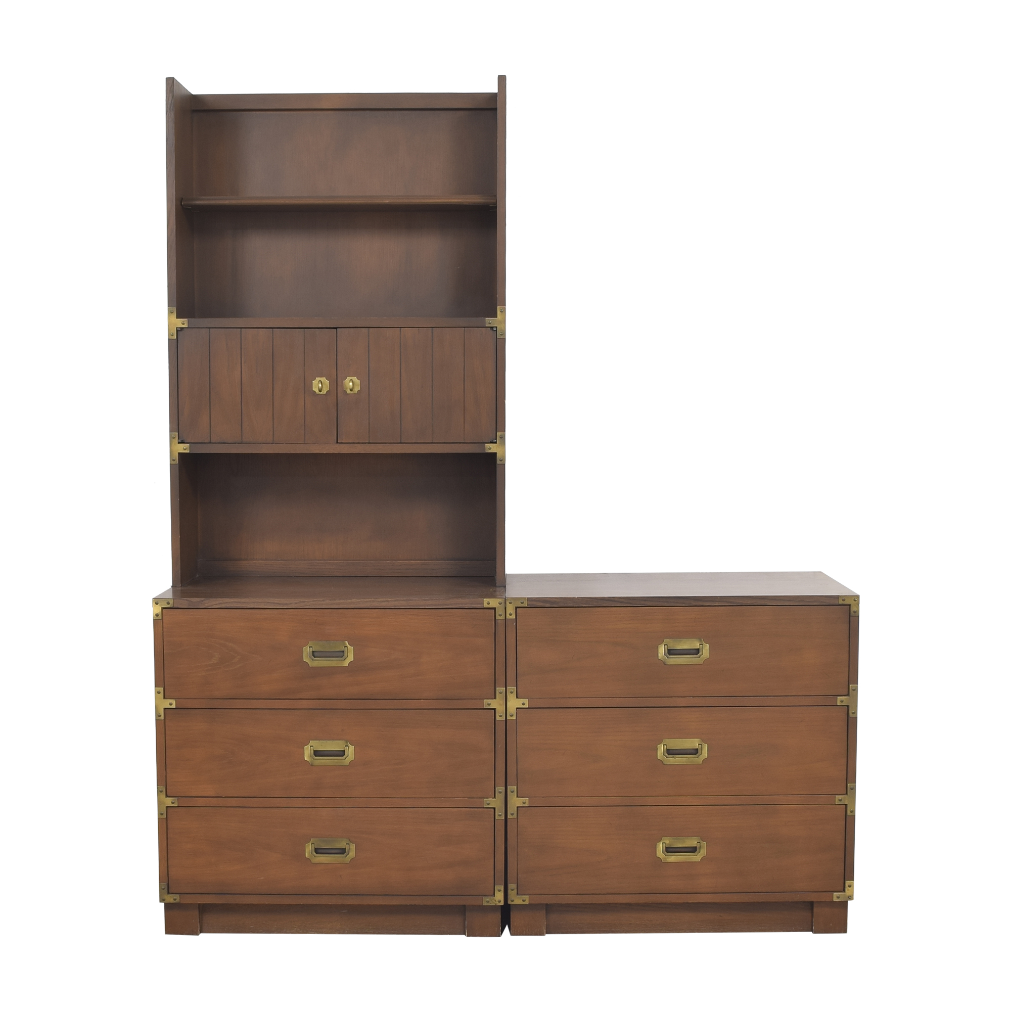 Drexel Drexel Firstmate Three Drawer Dressers with Hutch ma