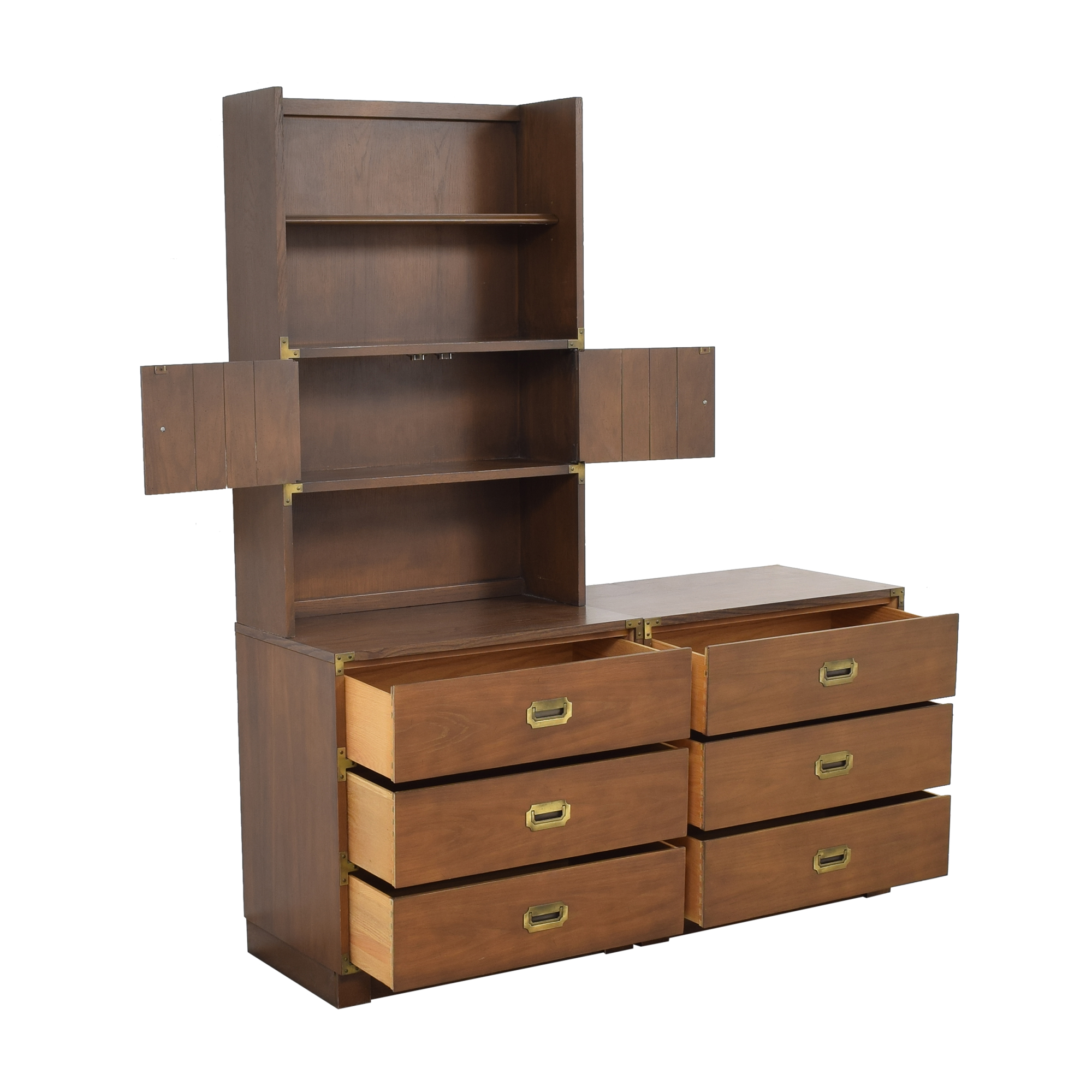 buy Drexel Firstmate Three Drawer Dressers with Hutch Drexel