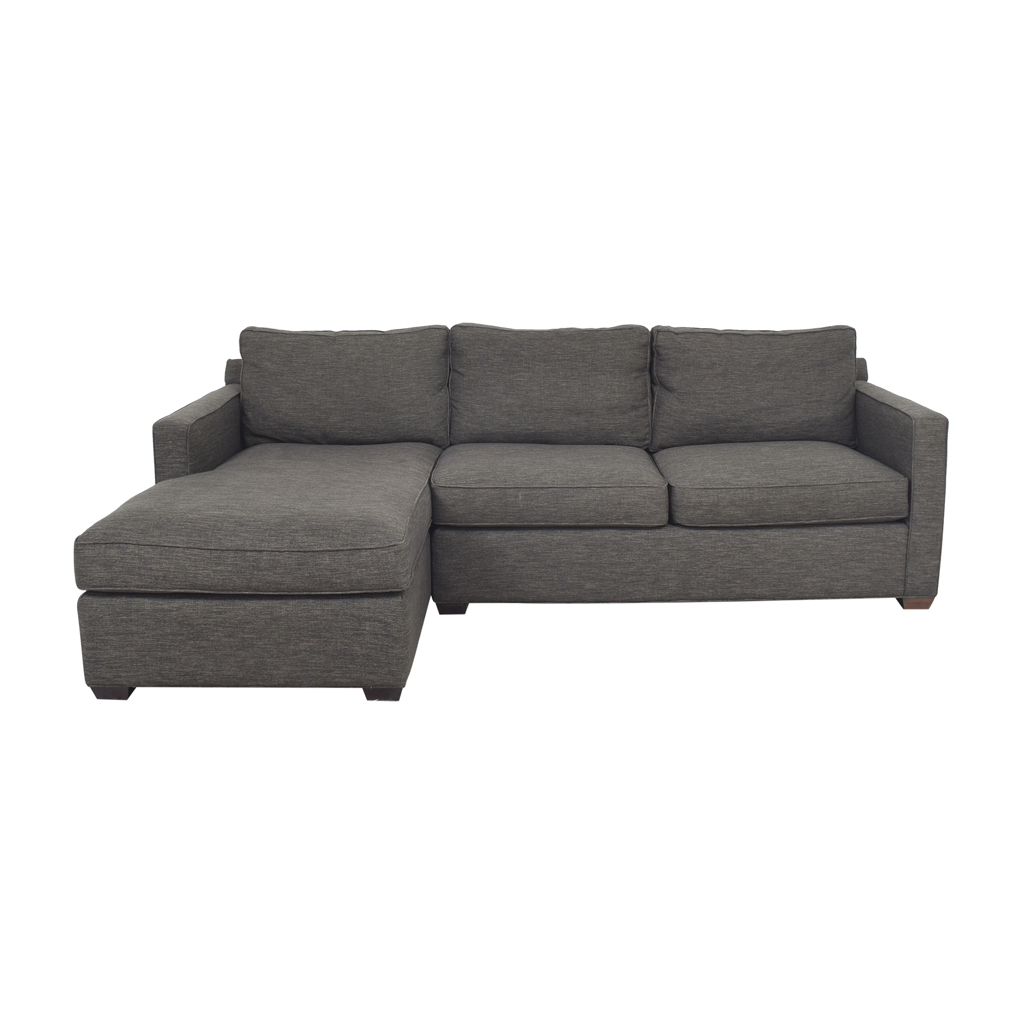 shop Crate & Barrel Crate & Barrel Barrett Two Piece Chaise Sectional Sofa online