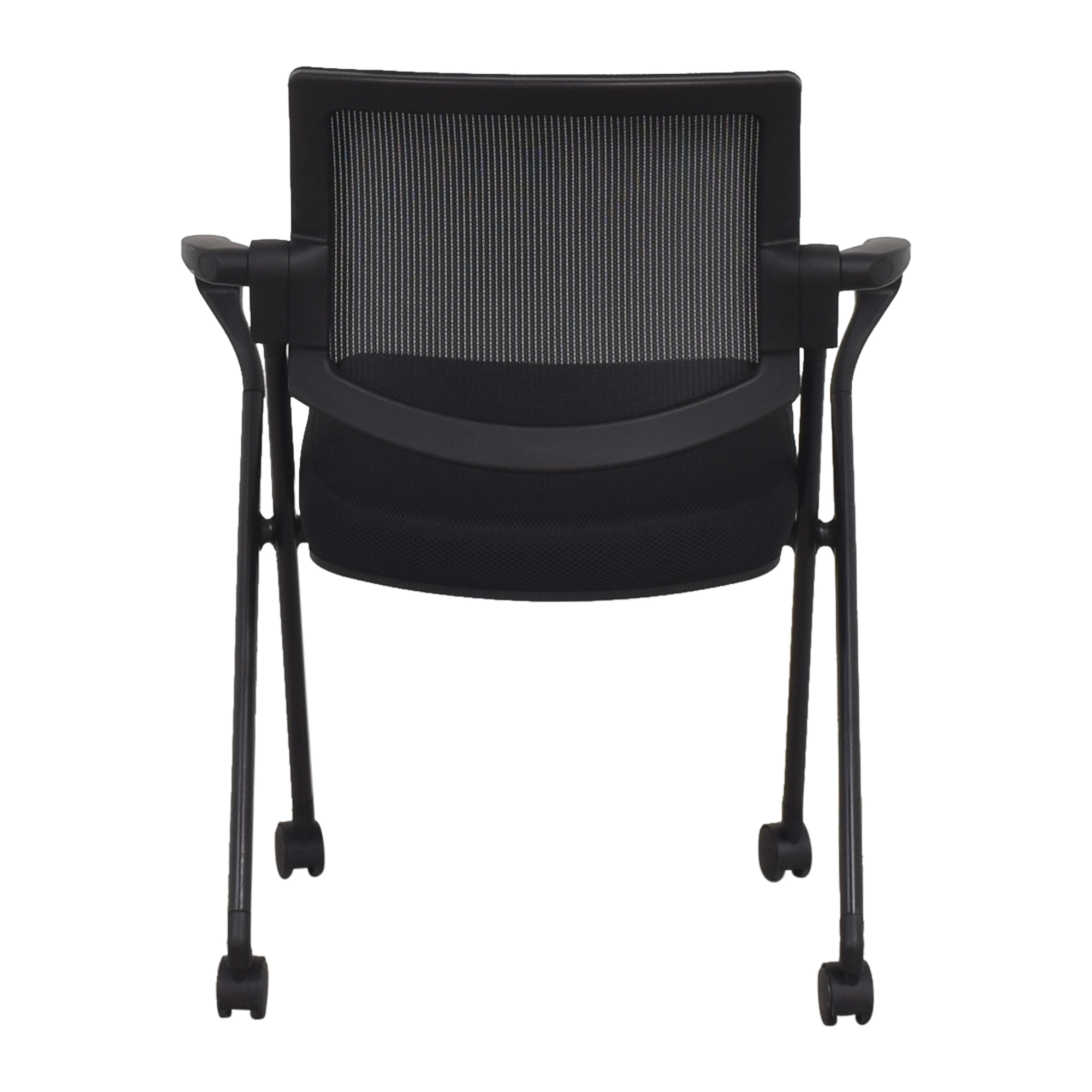 buy Offices to Go Mesh Back Flip Seat Nesting Chair Offices to Go