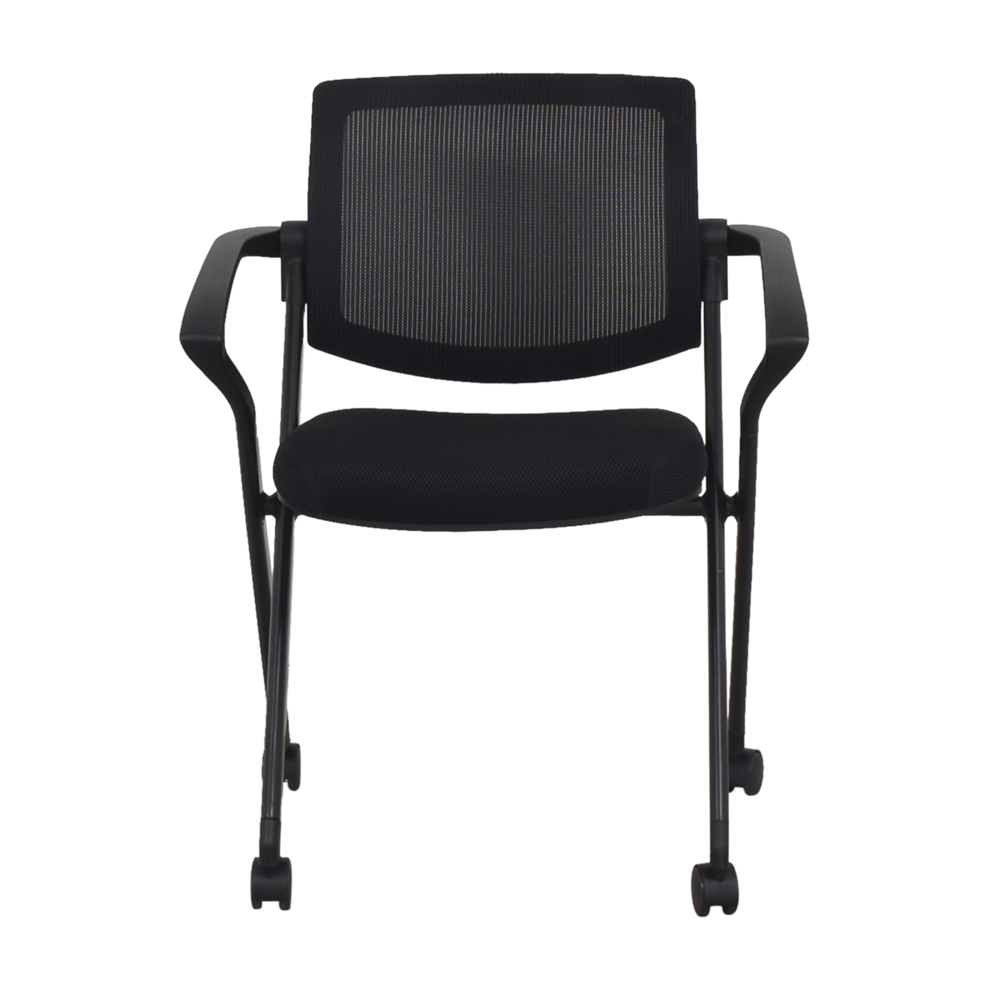 shop Offices to Go Mesh Back Flip Seat Nesting Chair Offices to Go Chairs