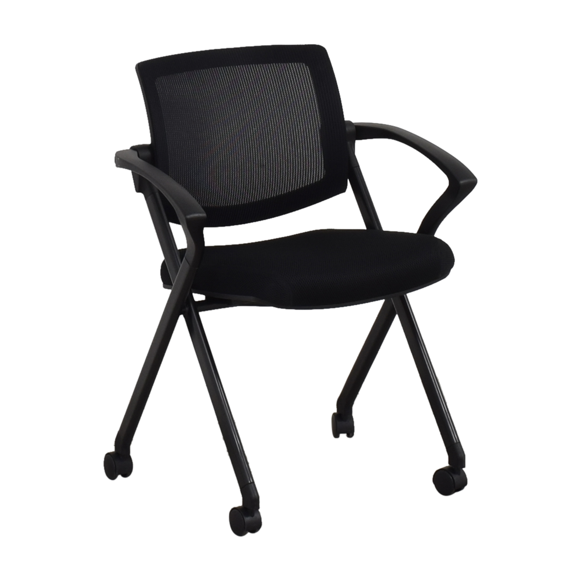 Offices to Go Offices to Go Mesh Back Flip Seat Nesting Chair on sale