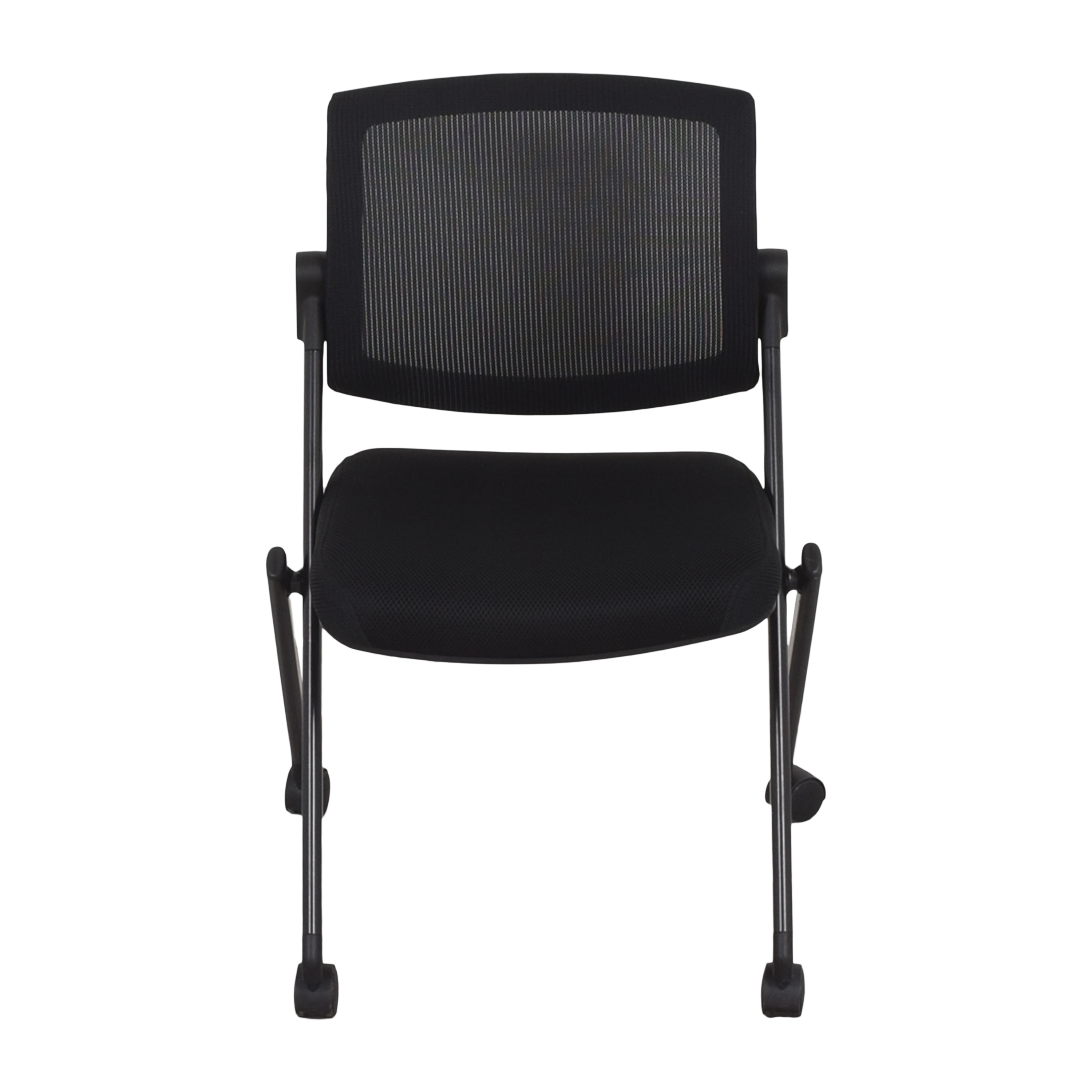Offices to Go Offices to Go Armless Mesh Back Flip Seat Nesting Chair second hand