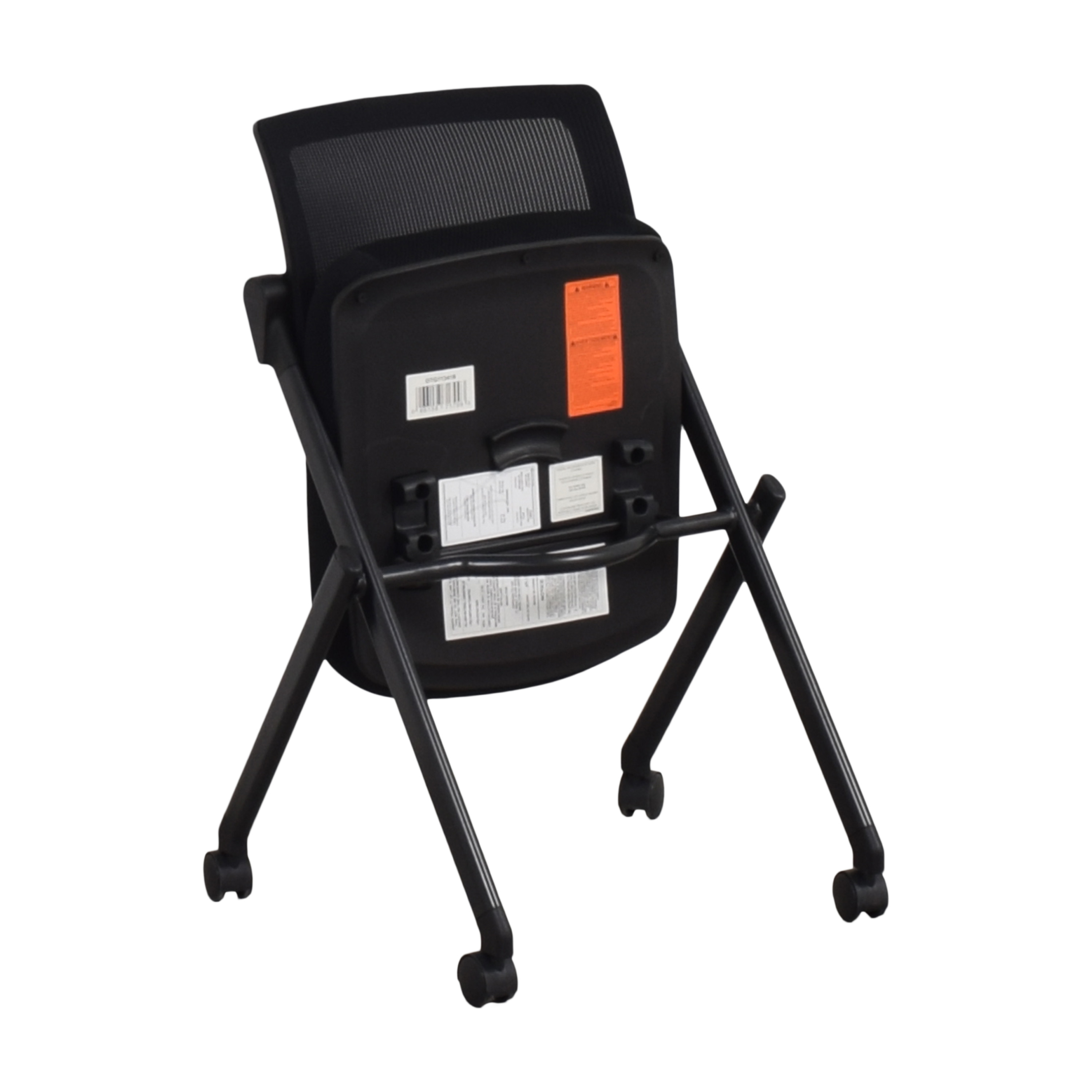 shop Offices to Go Armless Mesh Back Flip Seat Nesting Chair Offices to Go Home Office Chairs