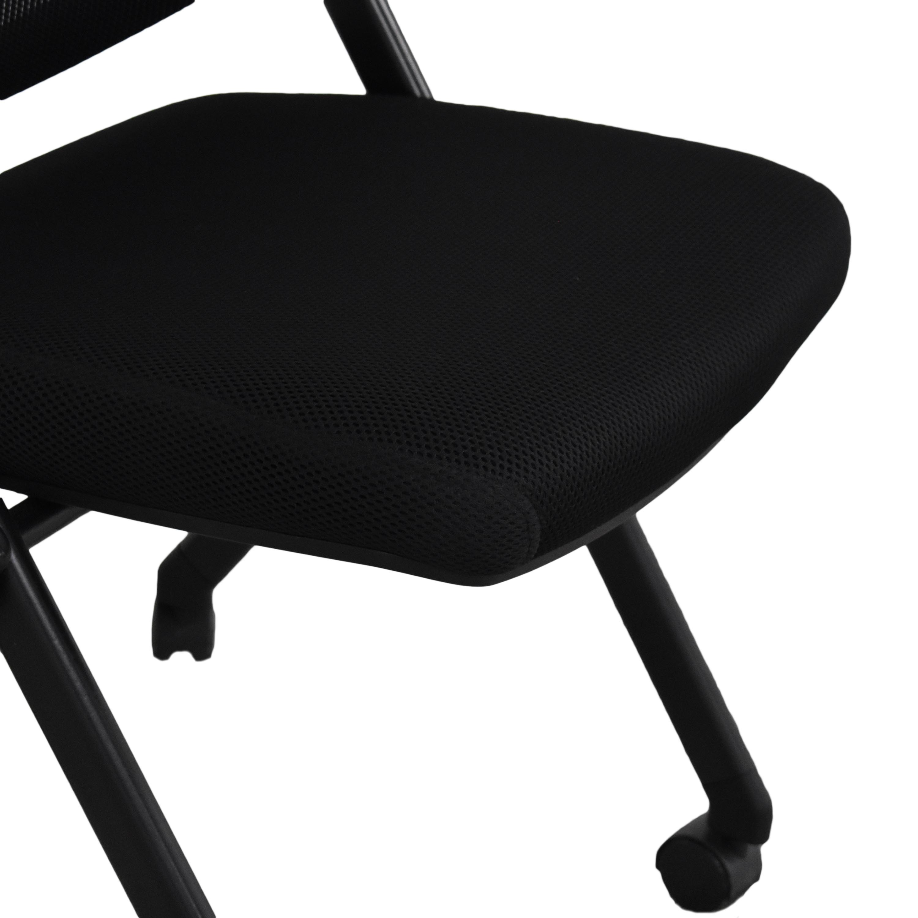 Offices to Go Armless Mesh Back Flip Seat Nesting Chair sale