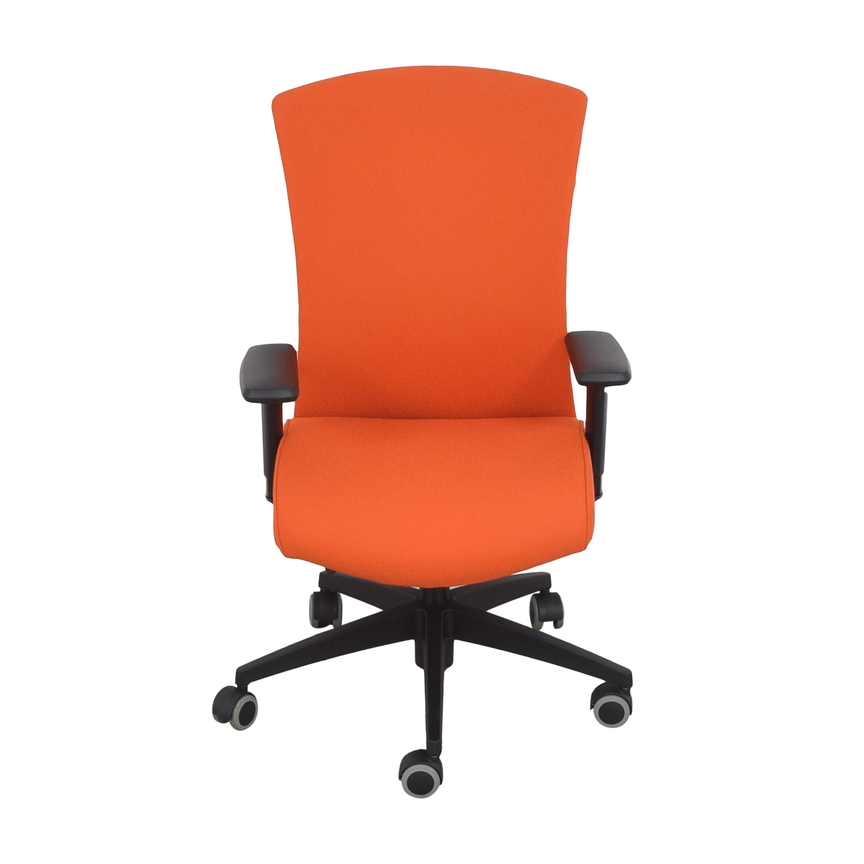 Global Furniture Group Global Furniture Group Vion Upholstered High Back Task Chair orange and black