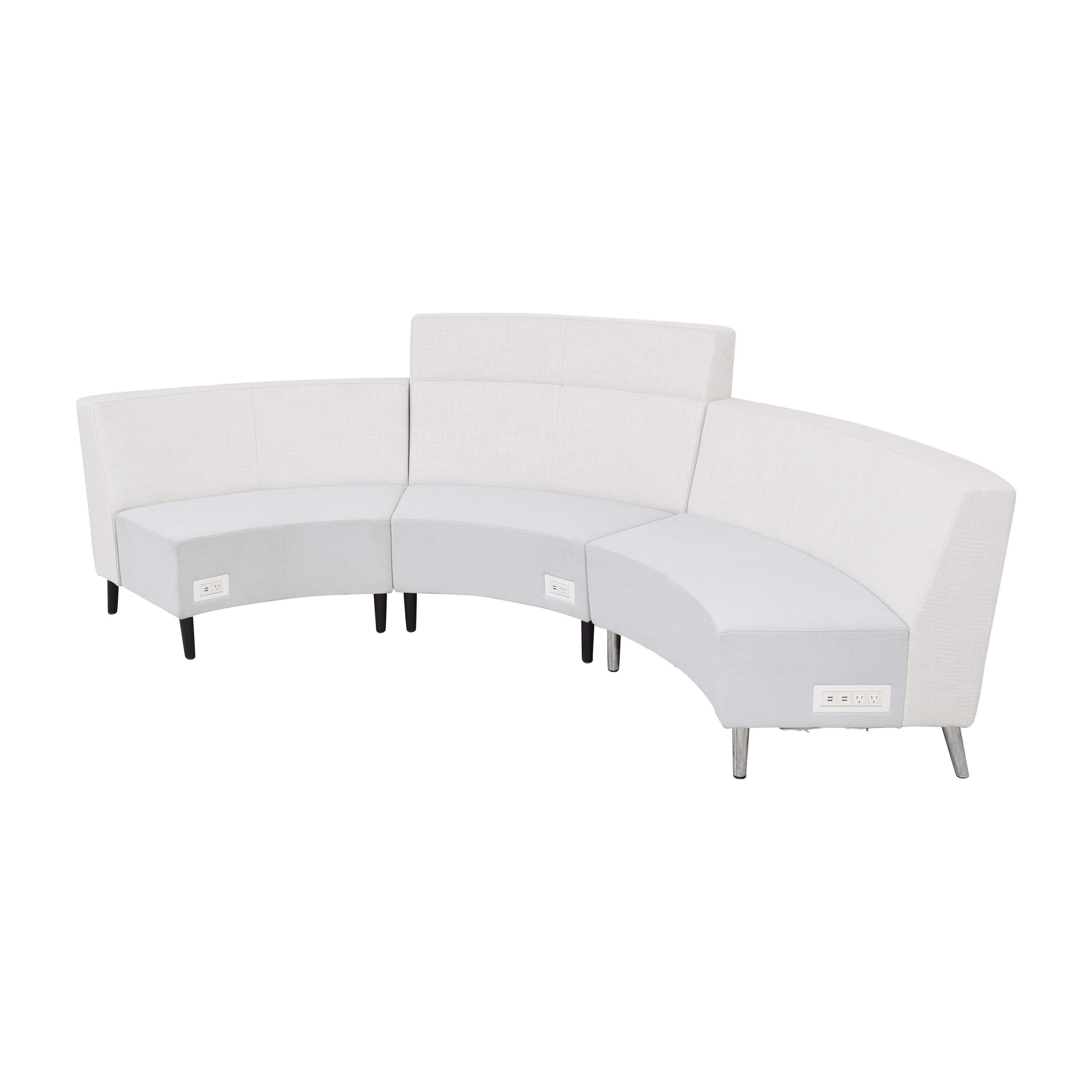 Global Furniture Group Global Furniture Group River Sectional Sofa with Coffee Table Section dimensions