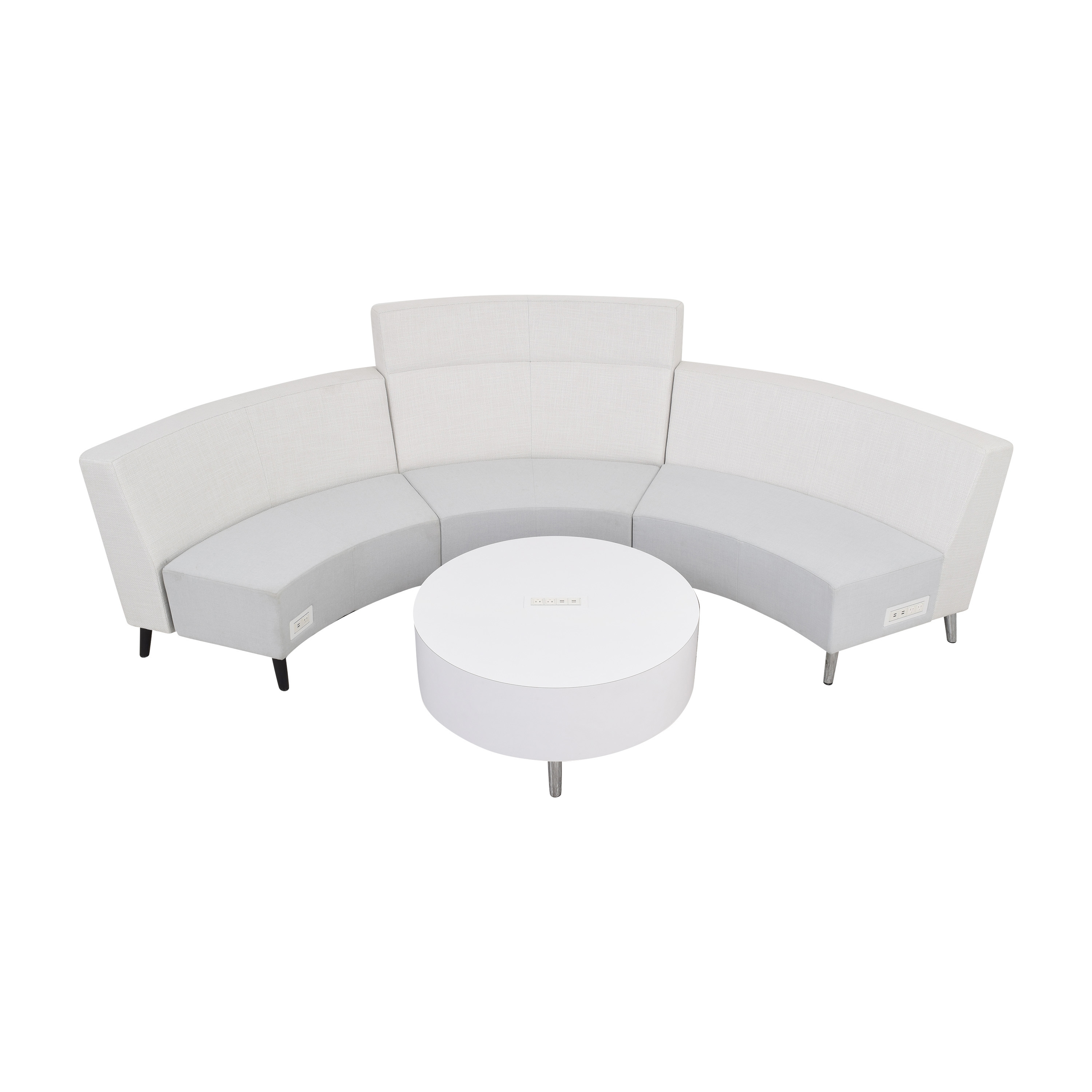 Global Furniture Group River Sectional Sofa with Coffee Table Section sale
