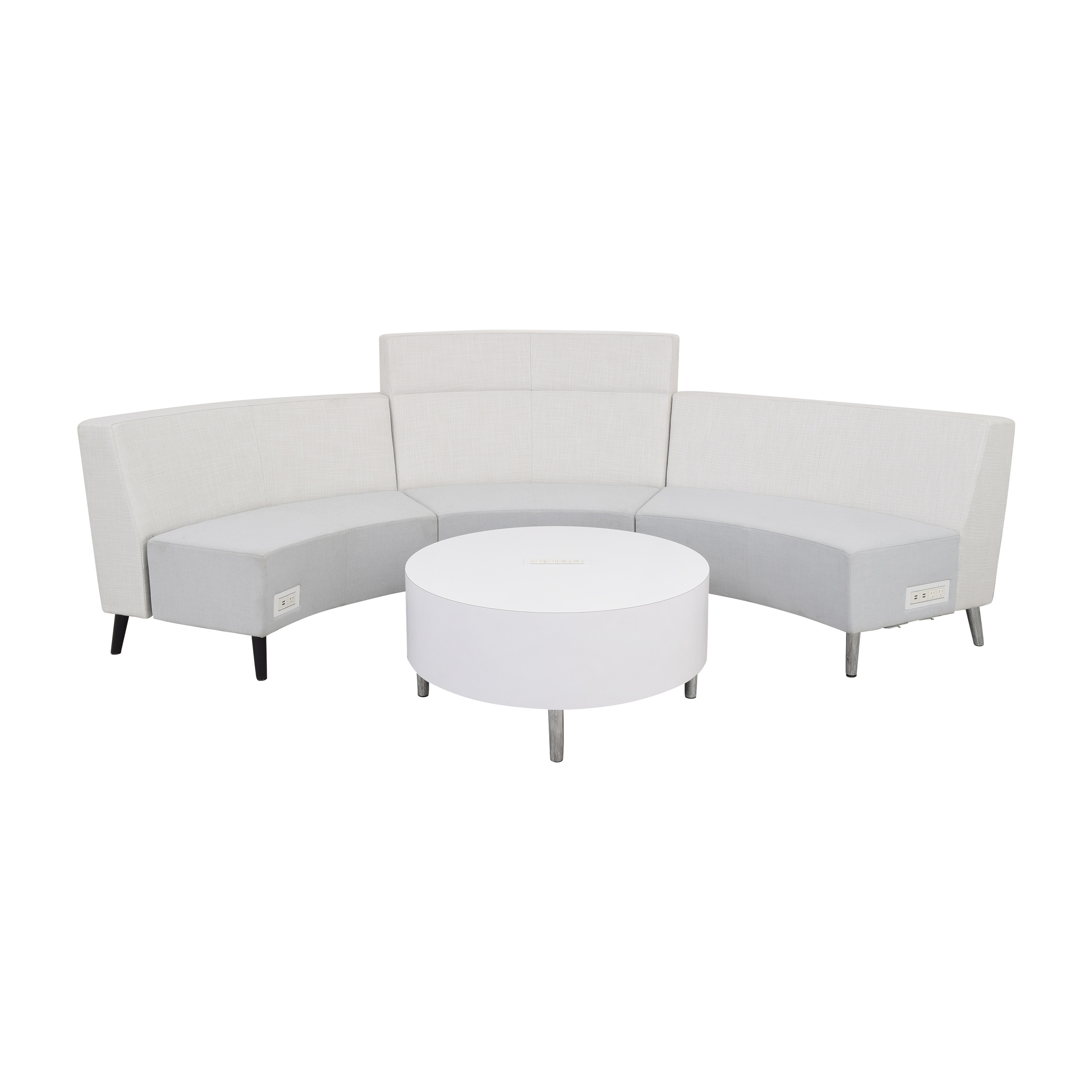 Global Furniture Group Global Furniture Group River Sectional Sofa with Coffee Table Section Sectionals
