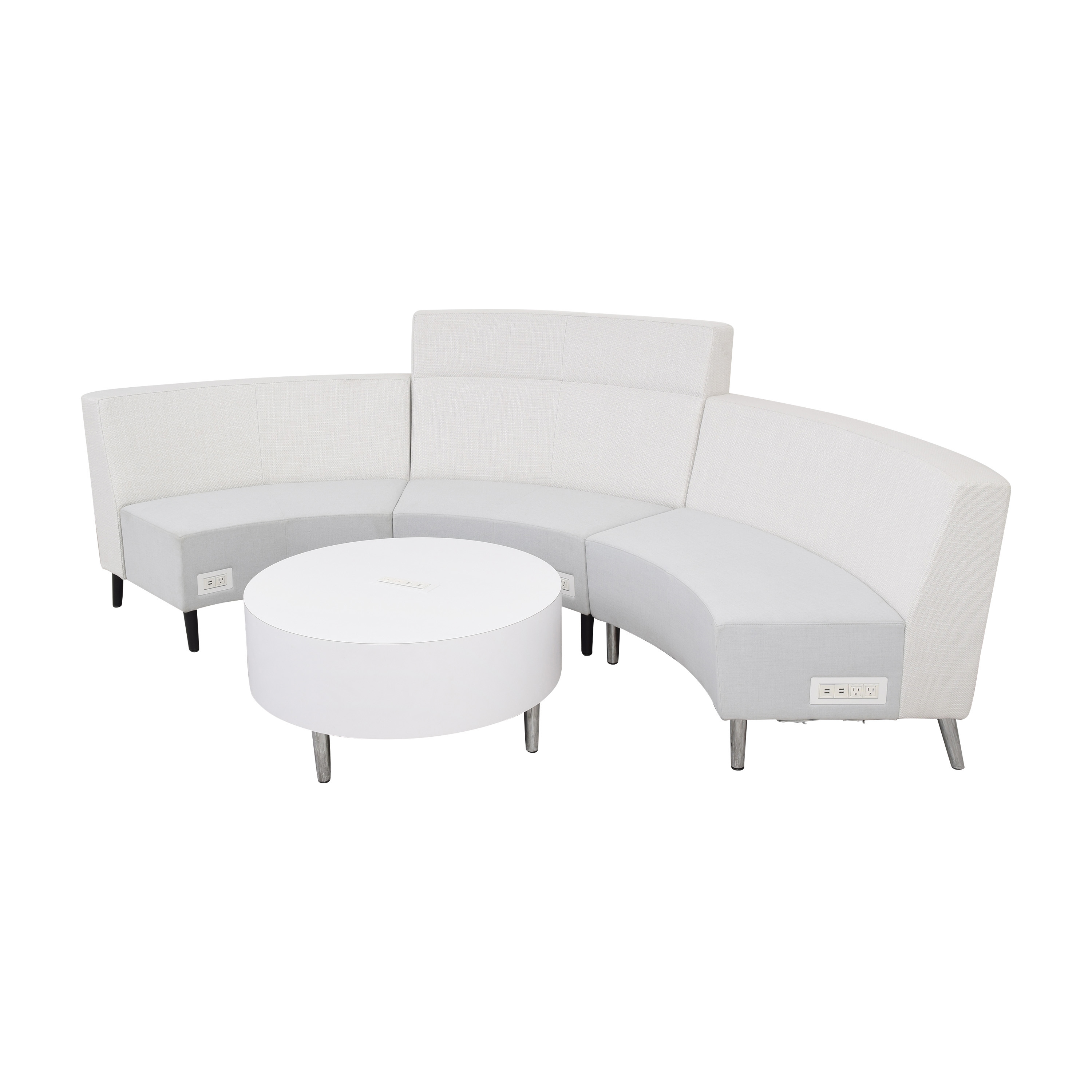 Global Furniture Group Global Furniture Group River Sectional Sofa with Coffee Table Section nj