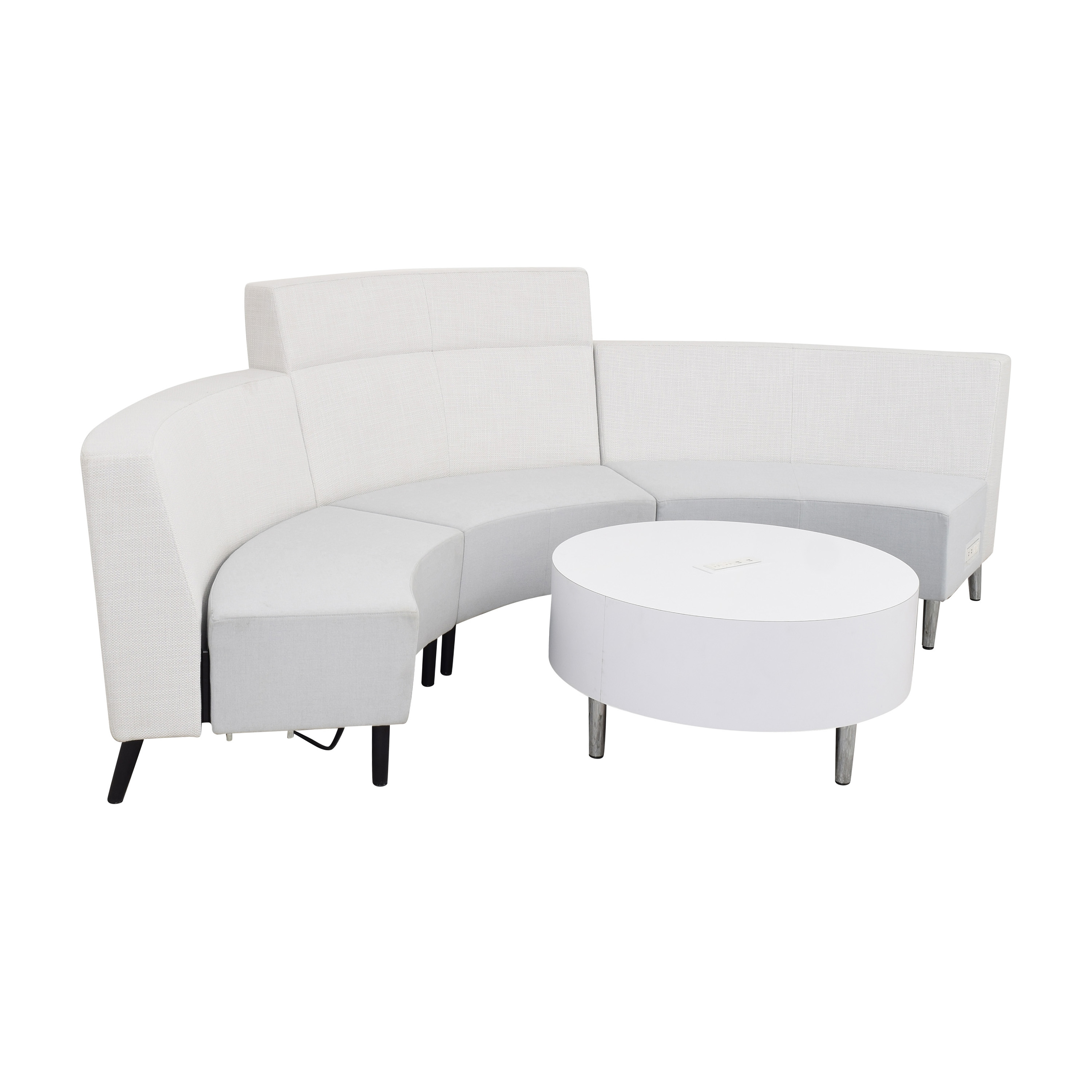 Global Furniture Group River Sectional Sofa with Coffee Table Section / Sectionals