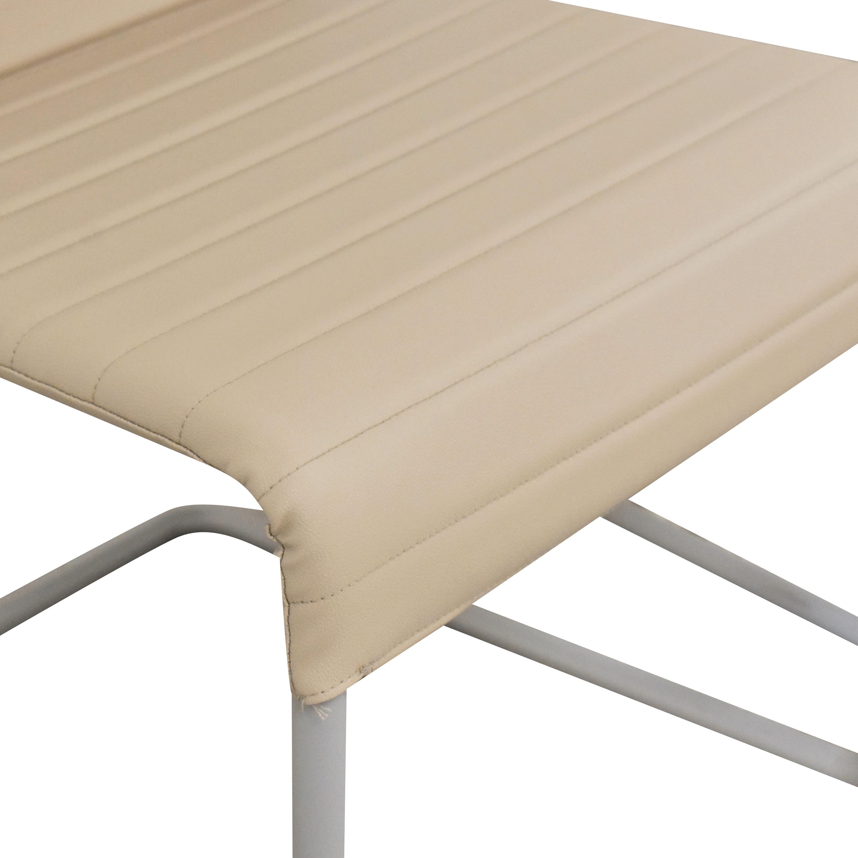 shop Global Furniture Group Lite Cantilever Frame Side Chairs Global Furniture Group