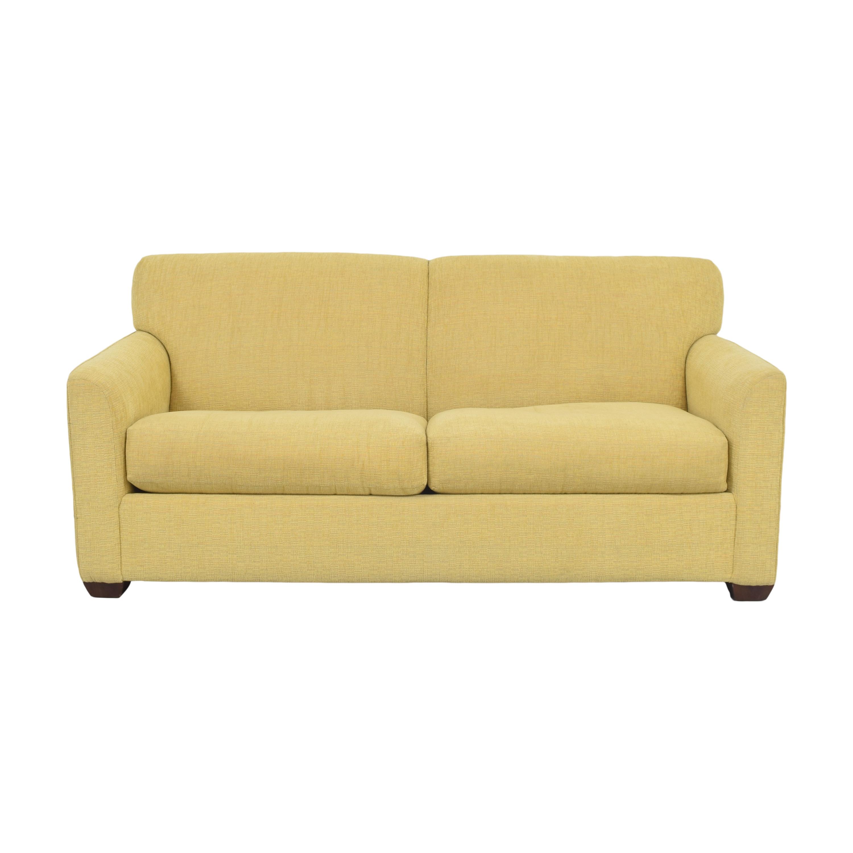 Two Cushion Sleeper Sofa yellow