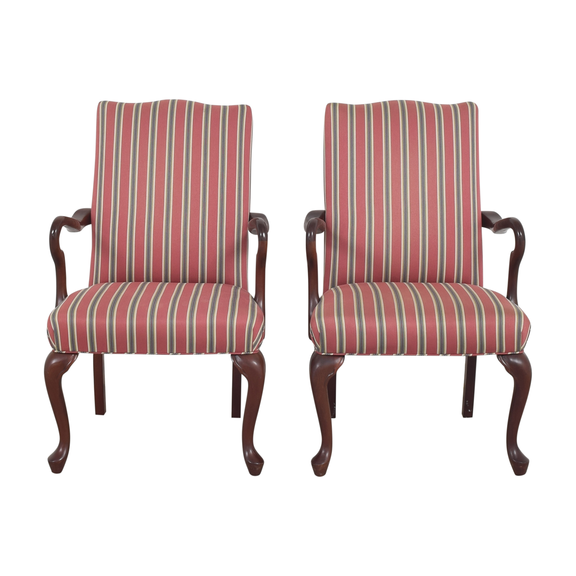 Haworth Stripe Dining Arm Chairs / Dining Chairs