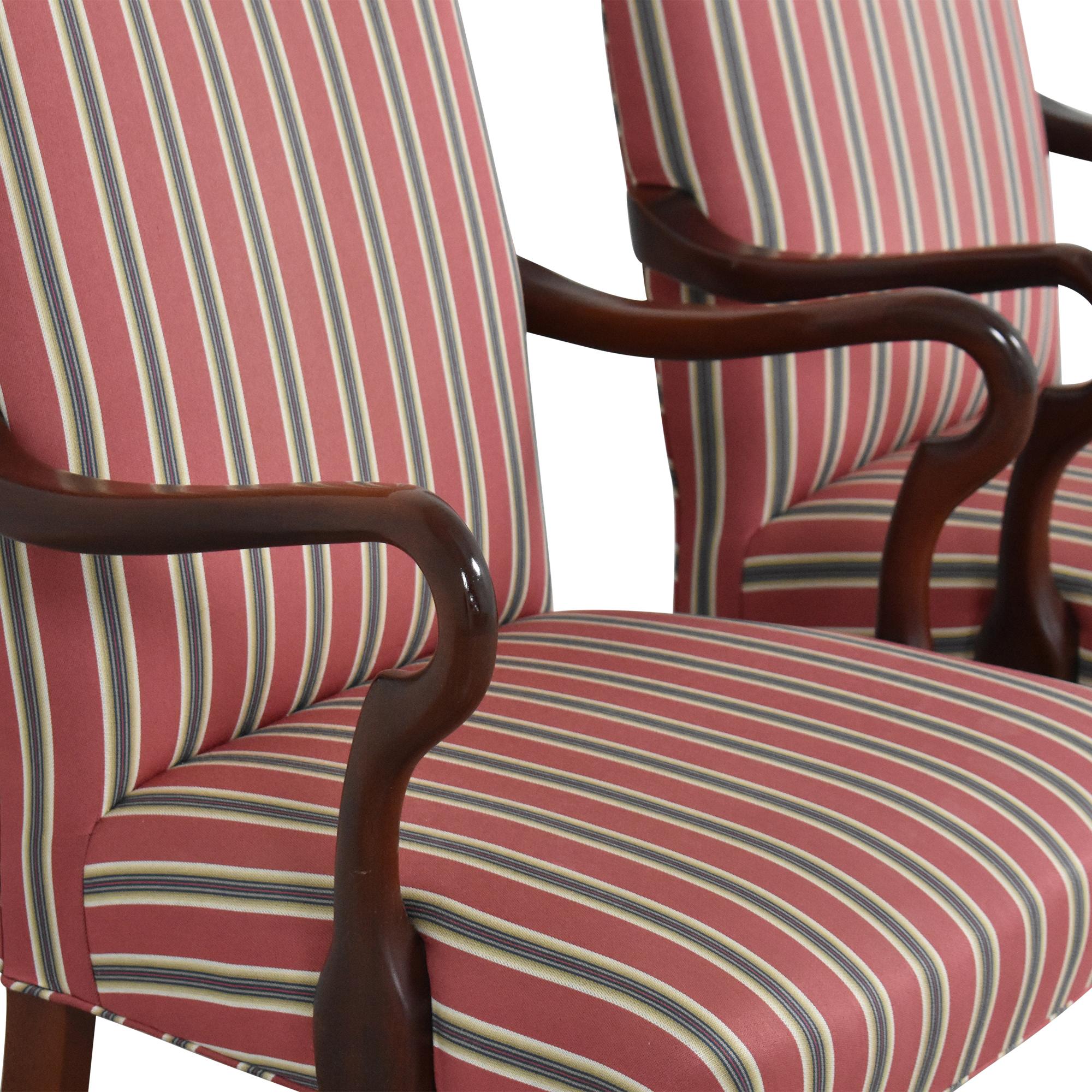 shop Haworth Stripe Dining Arm Chairs Haworth Chairs