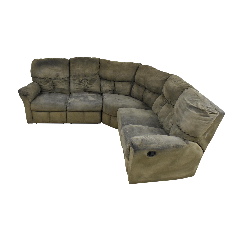 57% OFF - Levitz Levitz L Shaped Reclining Sectional Sofa / Sofas