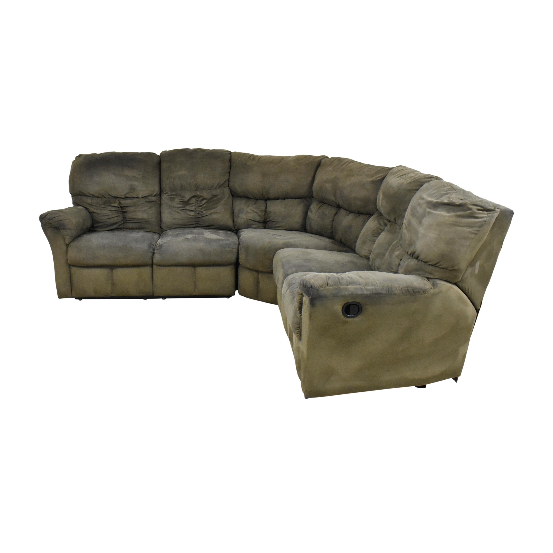 Levitz Levitz L Shaped Reclining Sectional Sofa used