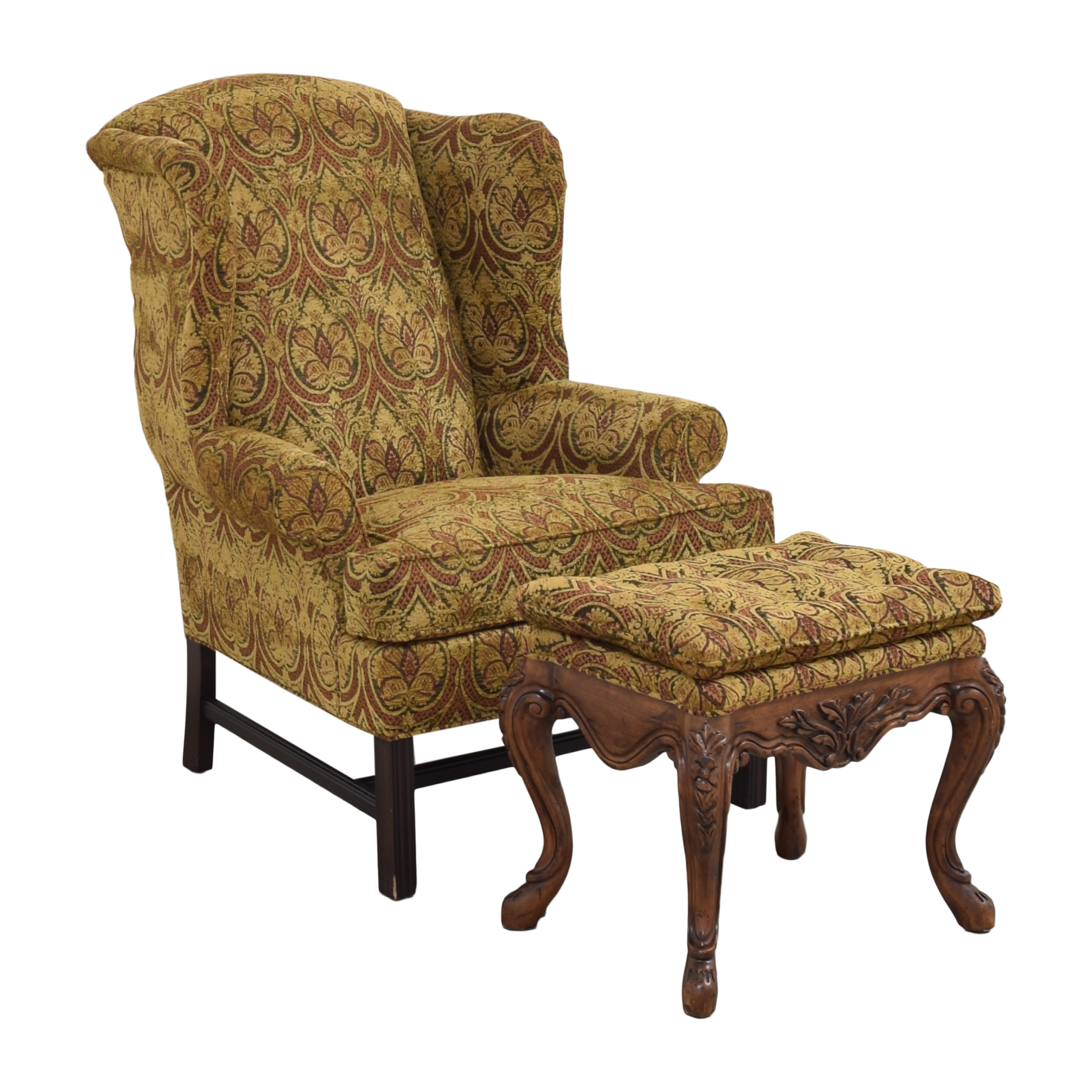 Kravet Kravet Wing Chair with Ottoman coupon