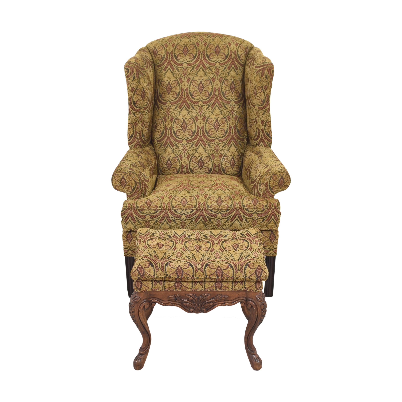 buy Kravet Wing Chair with Ottoman Kravet