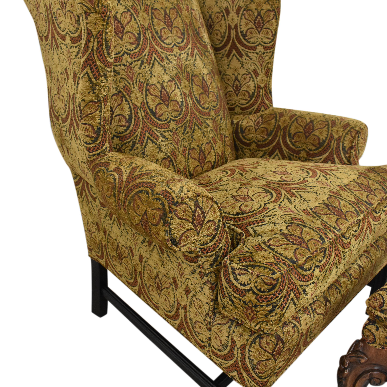 Kravet Kravet Wing Chair with Ottoman pa
