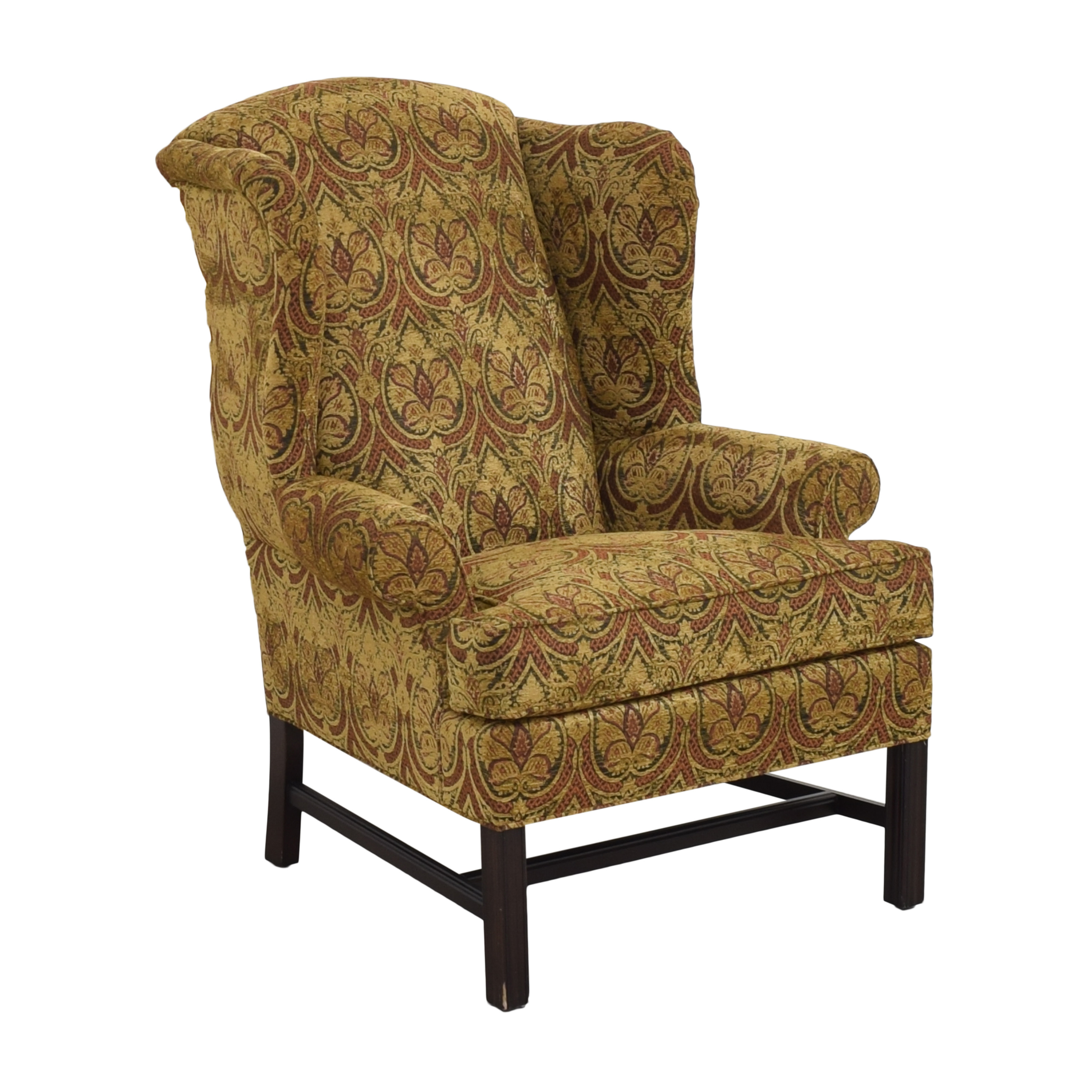 Kravet Wing Chair with Ottoman / Chairs