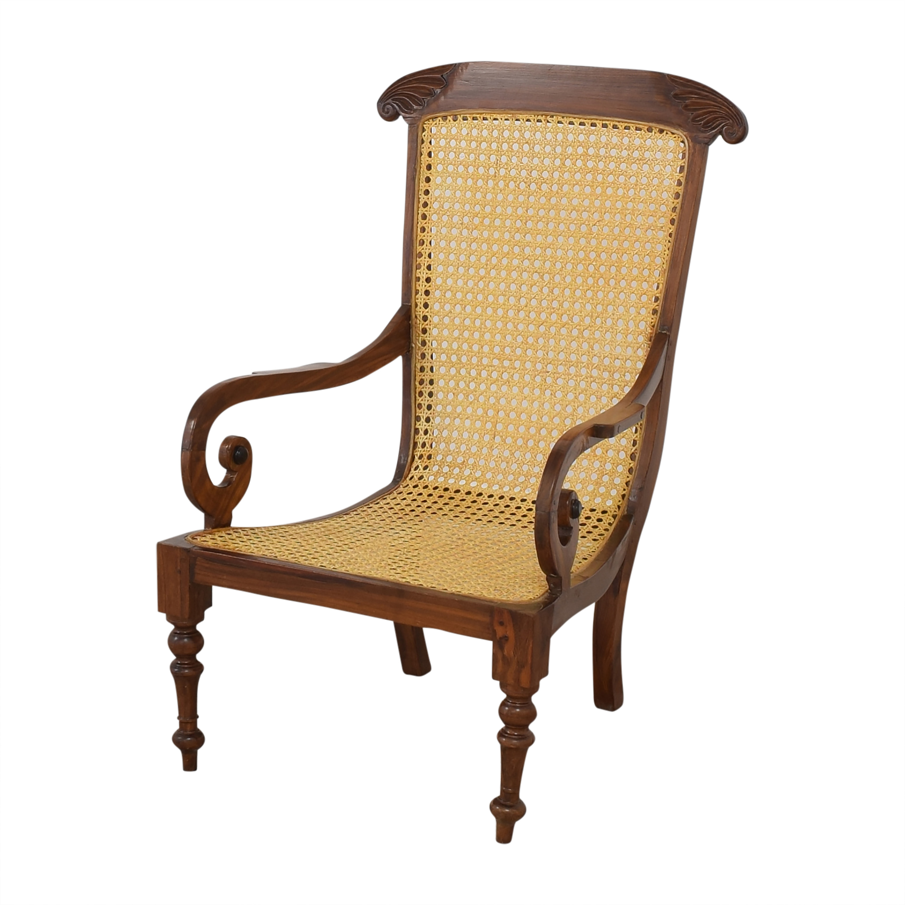 Vintage Carved Colonial-Style Chairs nyc