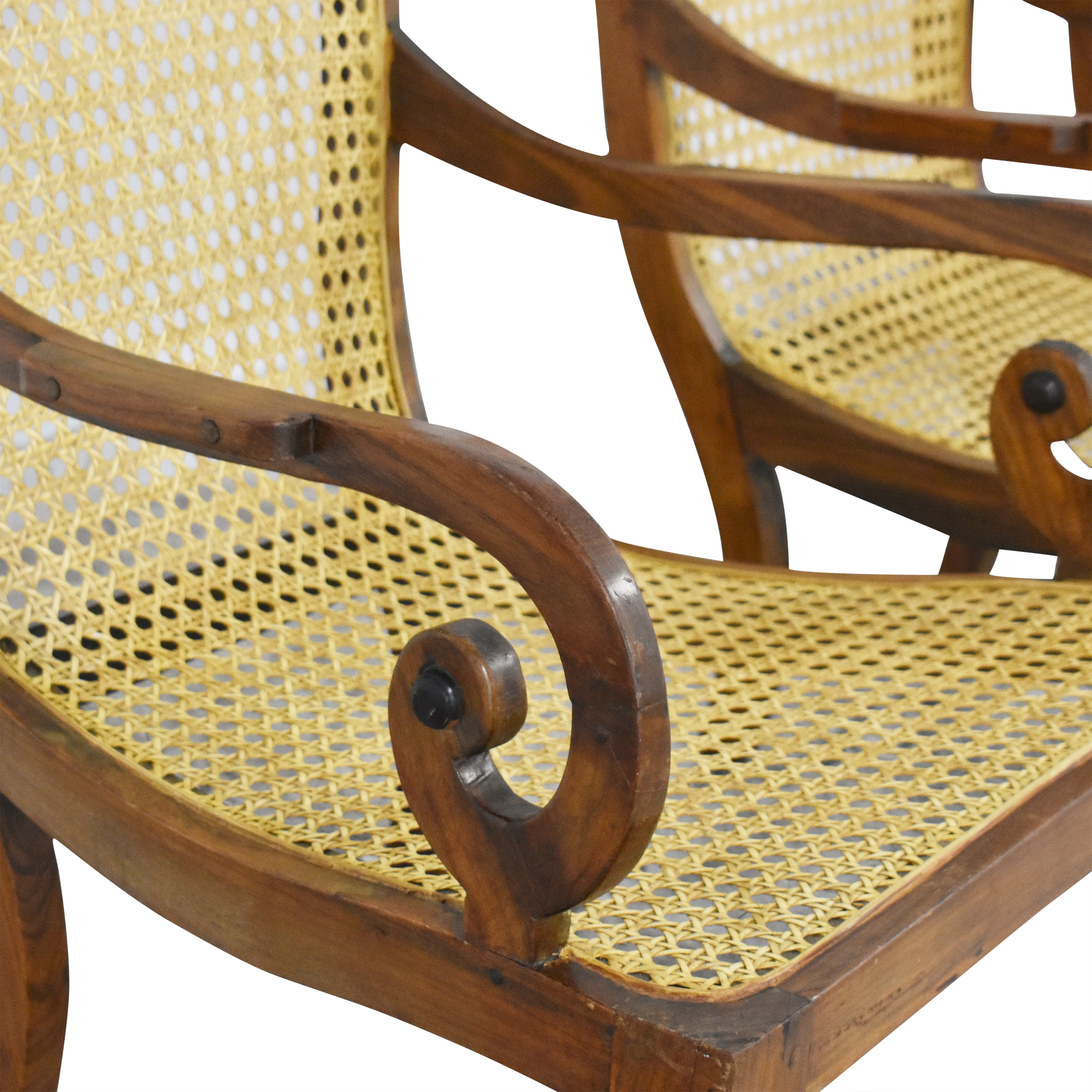 Vintage Carved Colonial-Style Chairs dimensions