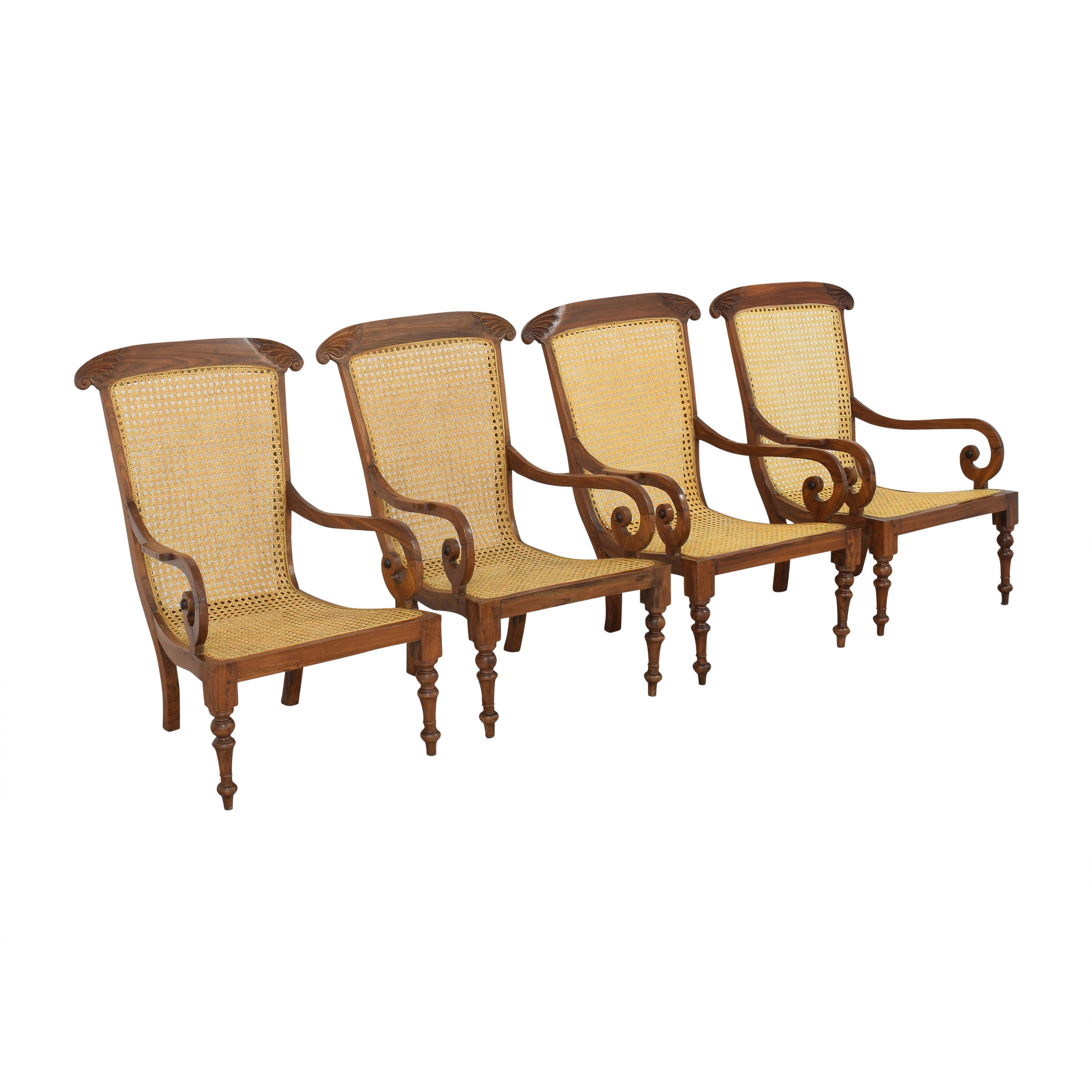 Vintage Carved Colonial-Style Chairs used