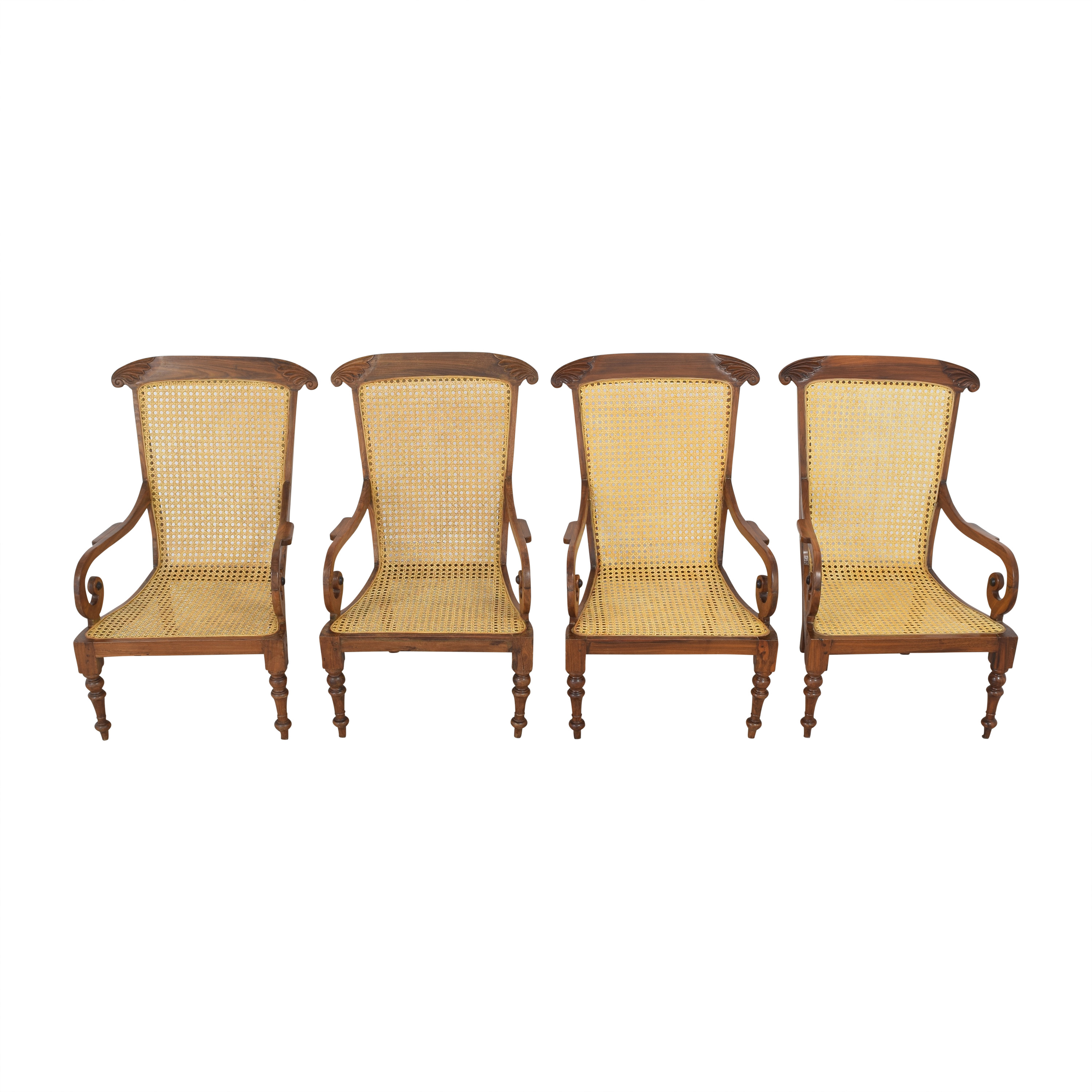 Vintage Carved Colonial-Style Chairs nj