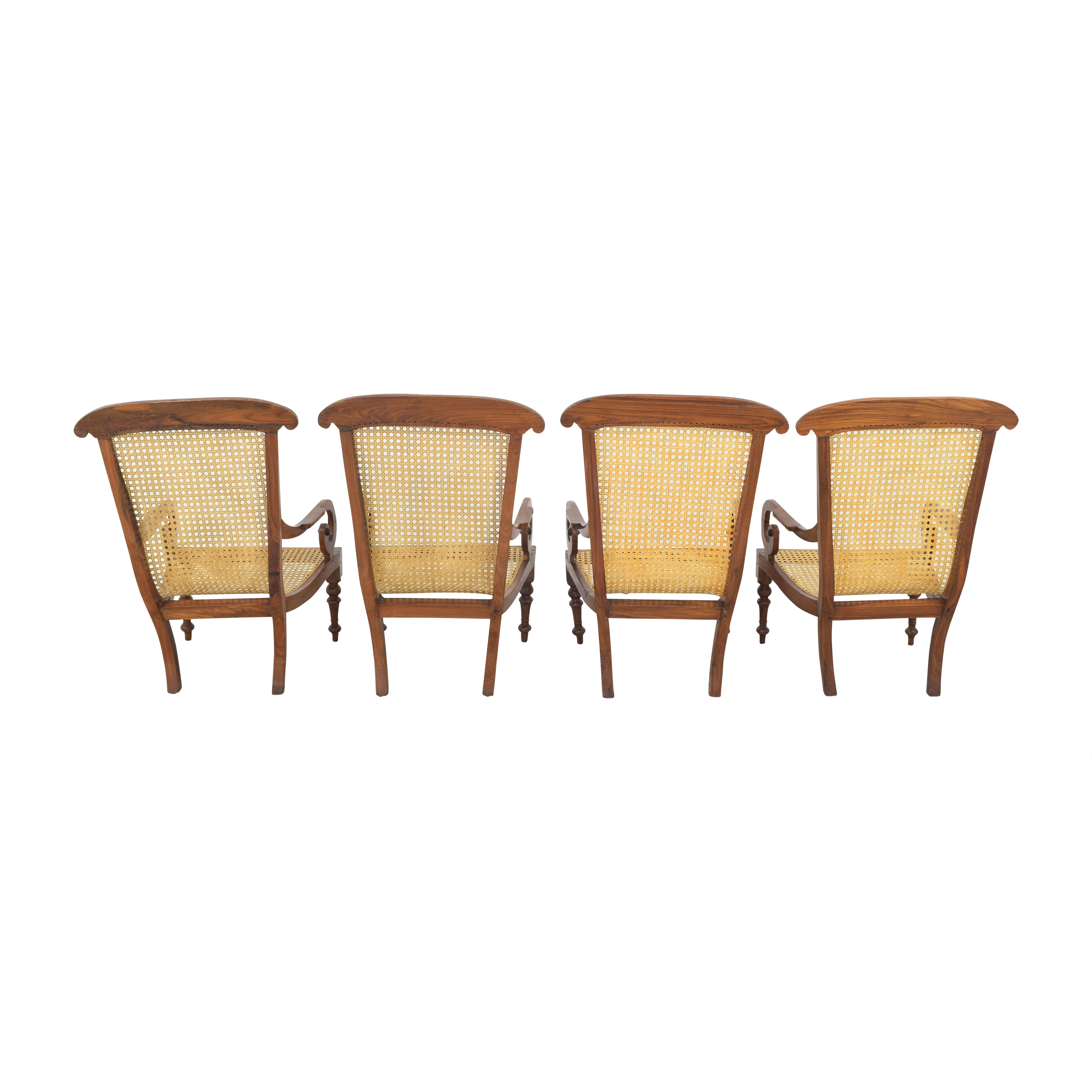 Vintage Carved Colonial-Style Chairs discount