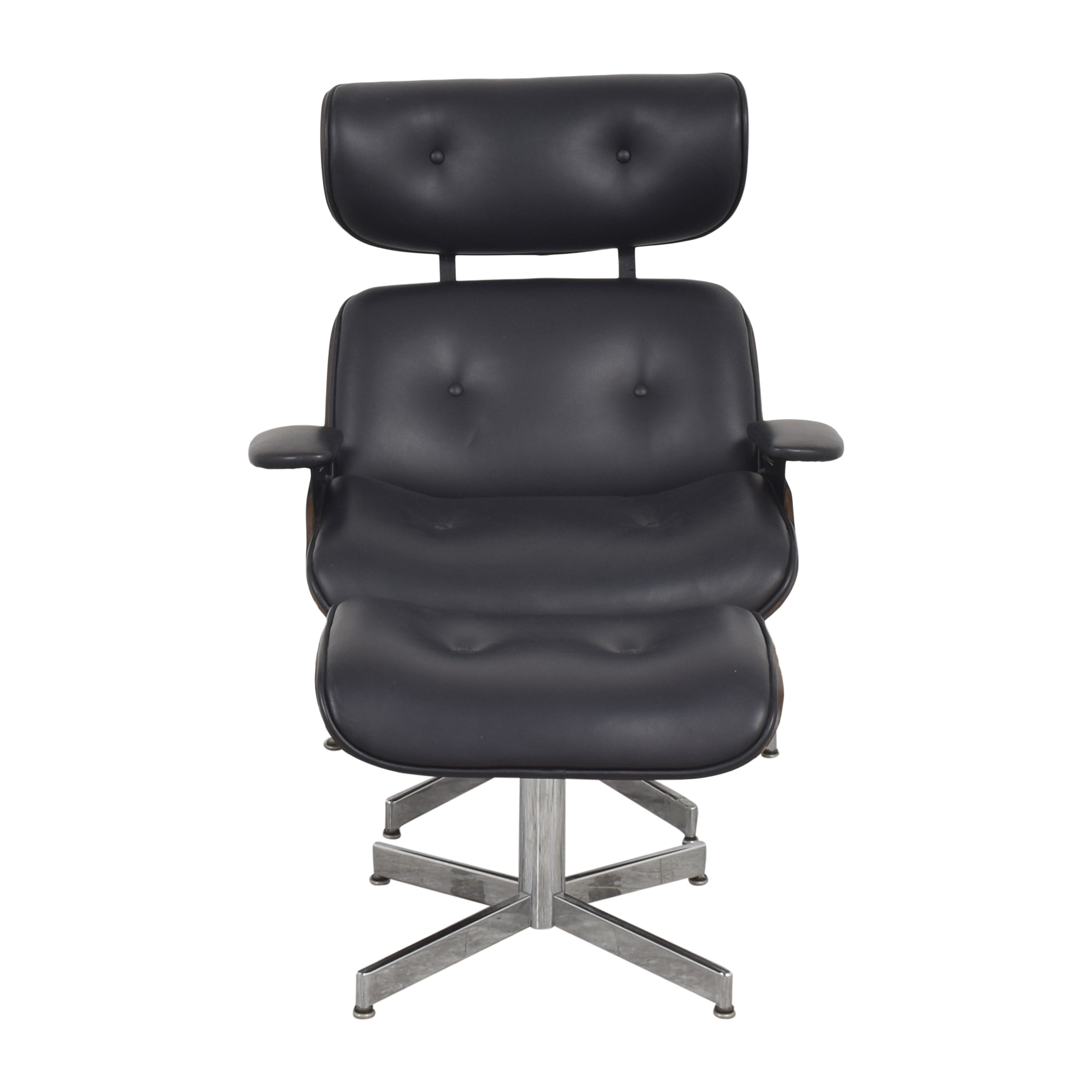 Eames-Style Lounge Chair with Ottoman ma