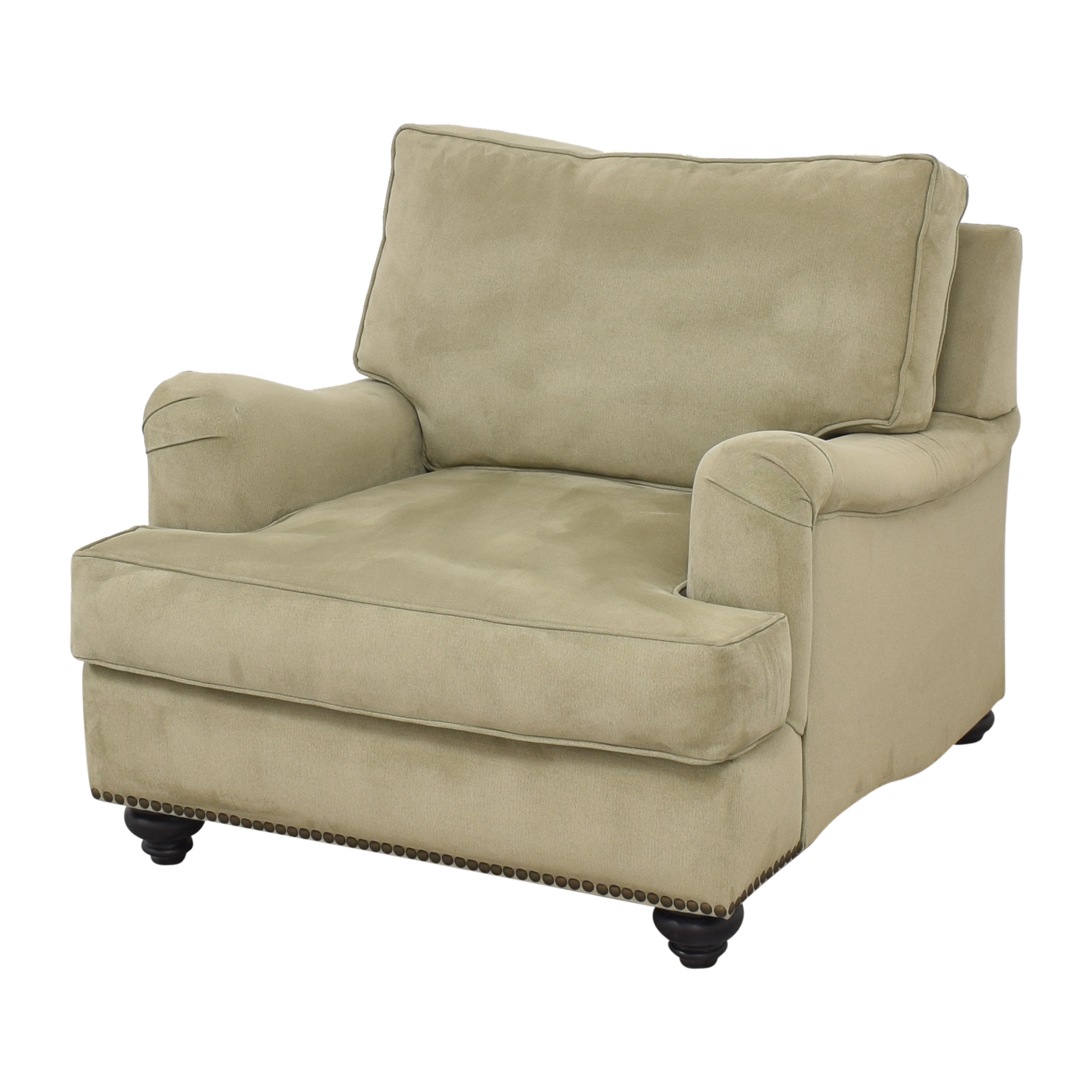 Nailhead Accent Chair with Ottoman Accent Chairs