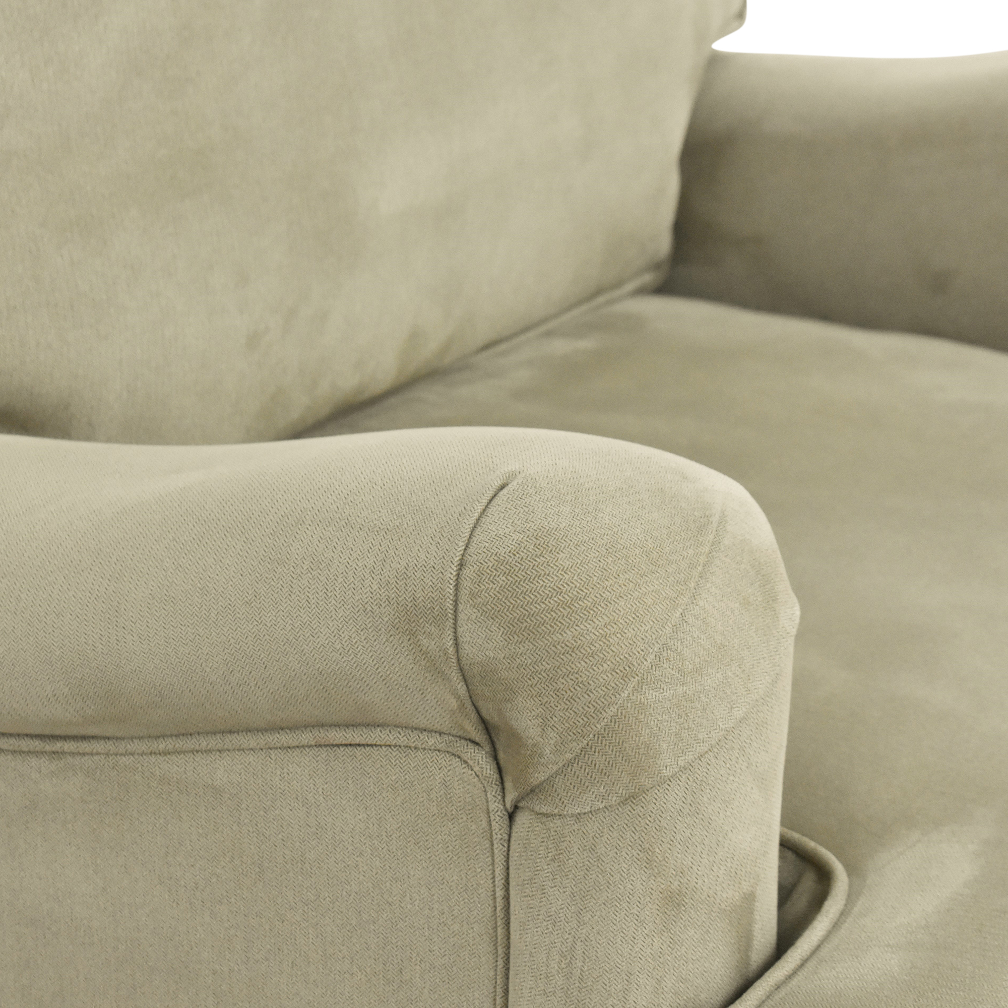 Nailhead Accent Chair with Ottoman for sale
