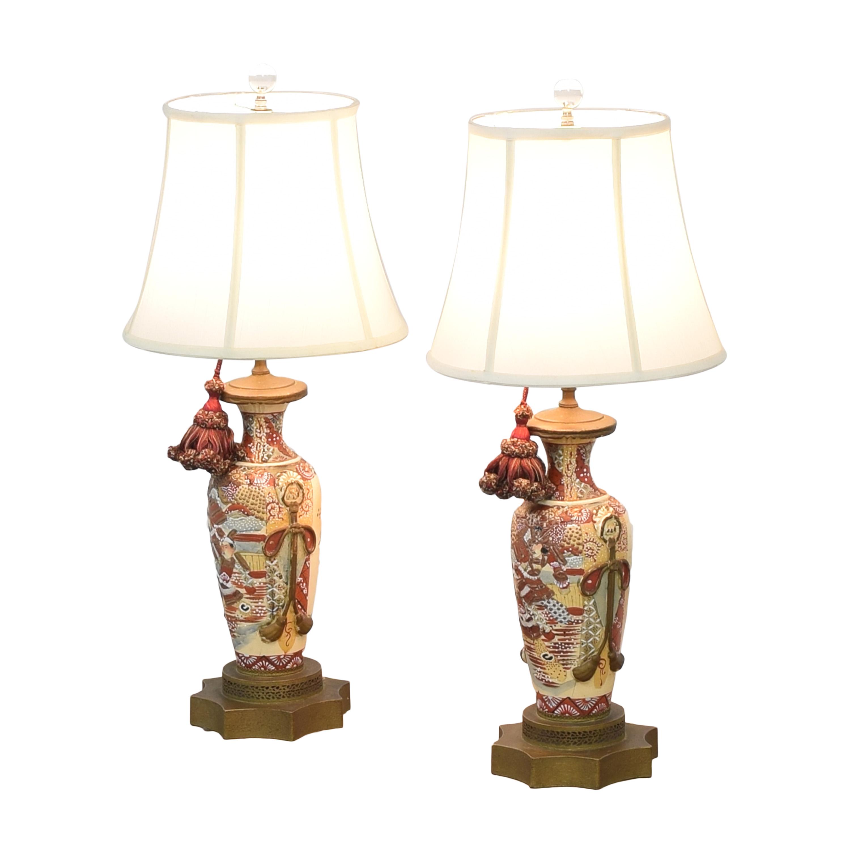 Japanese Satsuma Vase Table Lamps / Decor