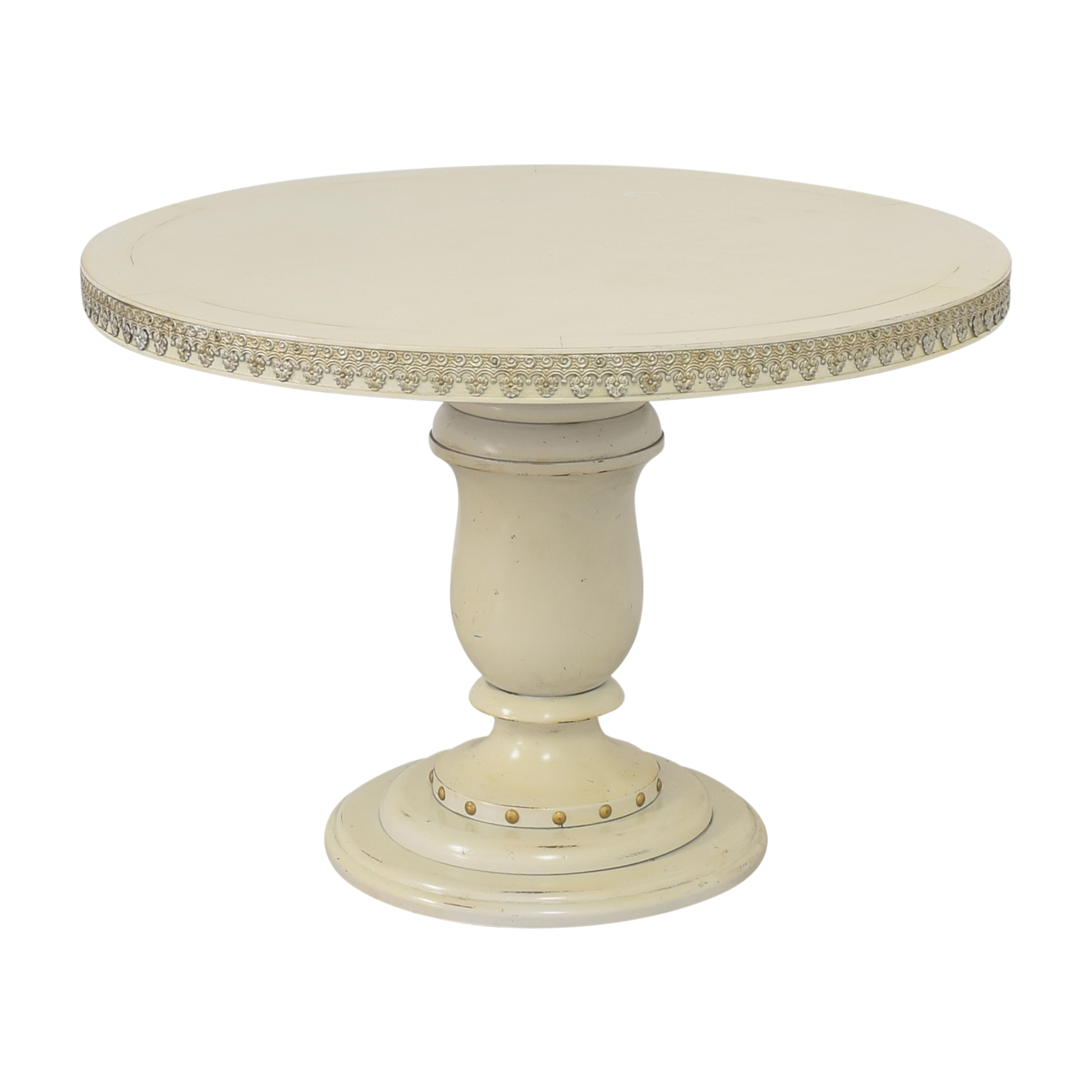 Côté France Accented Round Dining Table / Dinner Tables