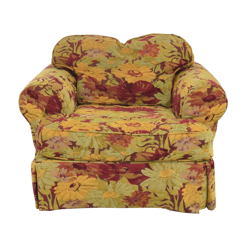 ABC Carpet & Home ABC Carpet & Home Oversized Floral Arm Chair pa