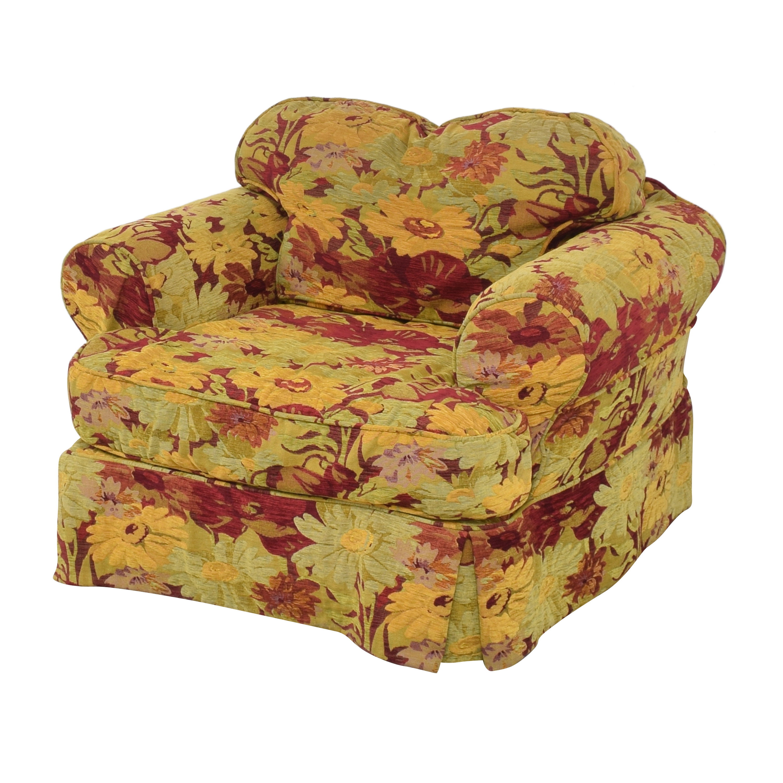ABC Carpet & Home ABC Carpet & Home Oversized Floral Arm Chair multi