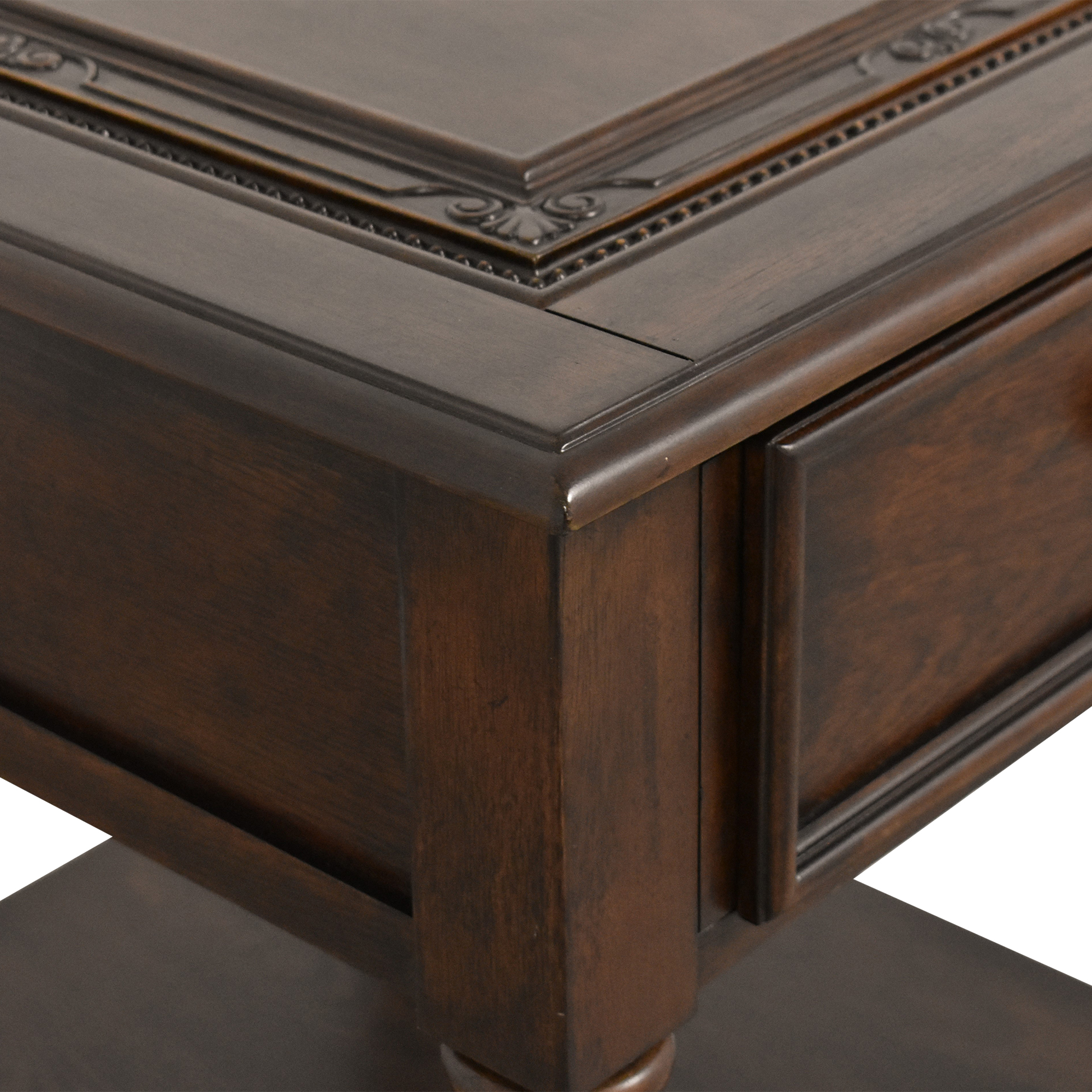 Single Drawer End Table brown
