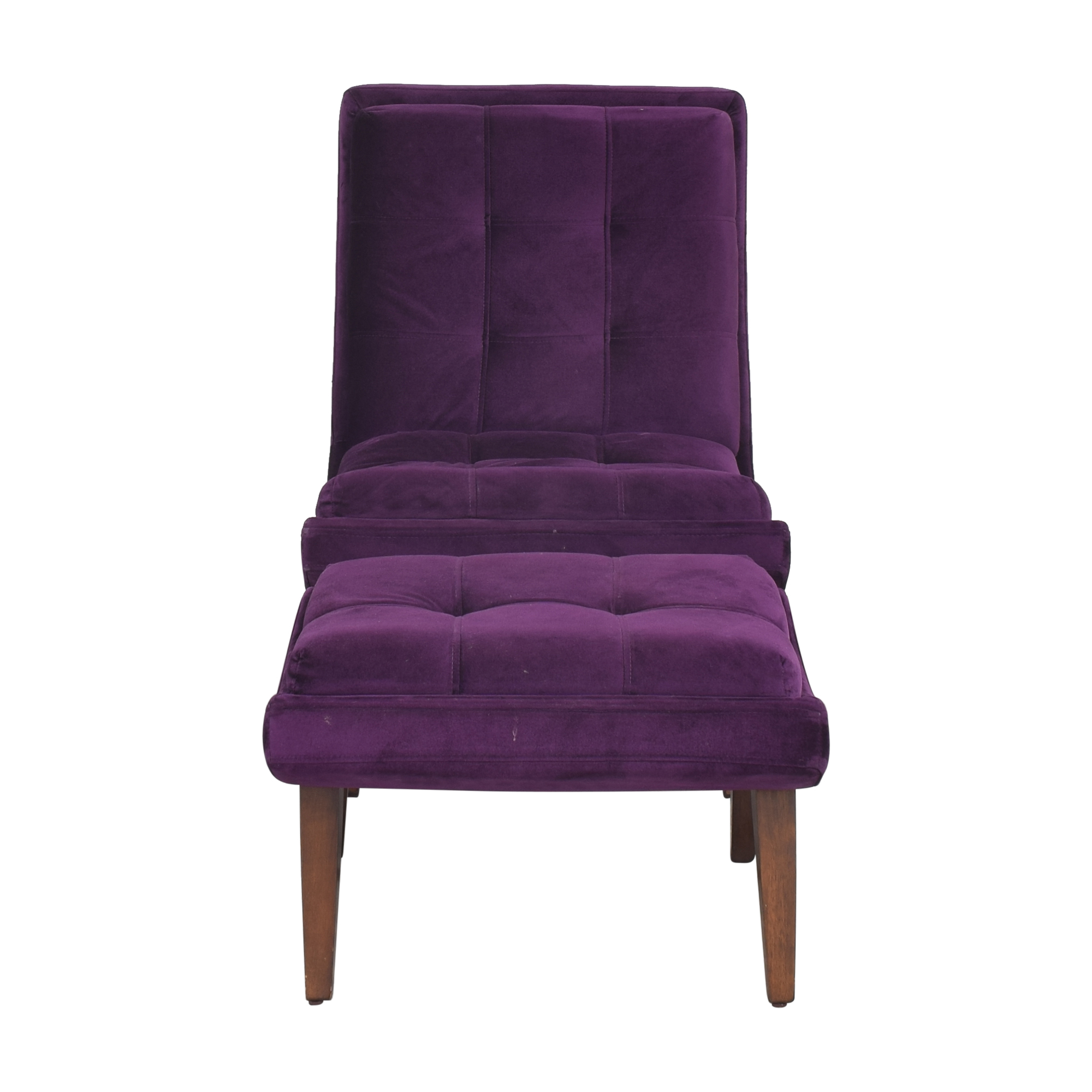 Tufted Accent Chair with Ottoman Chairs