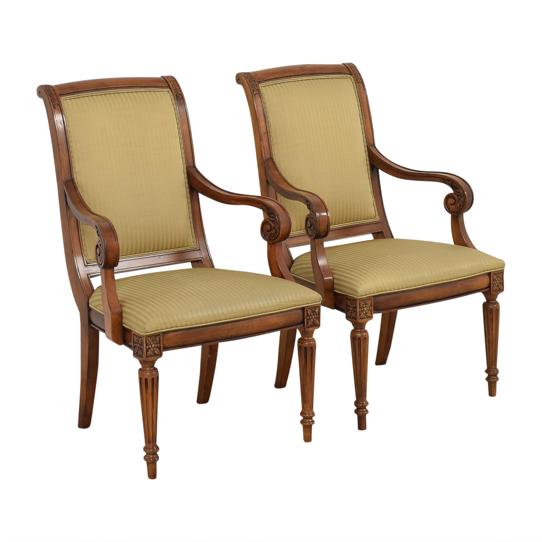 Ethan Allen Ethan Allen Adison Dining Arm Chairs brown, beige