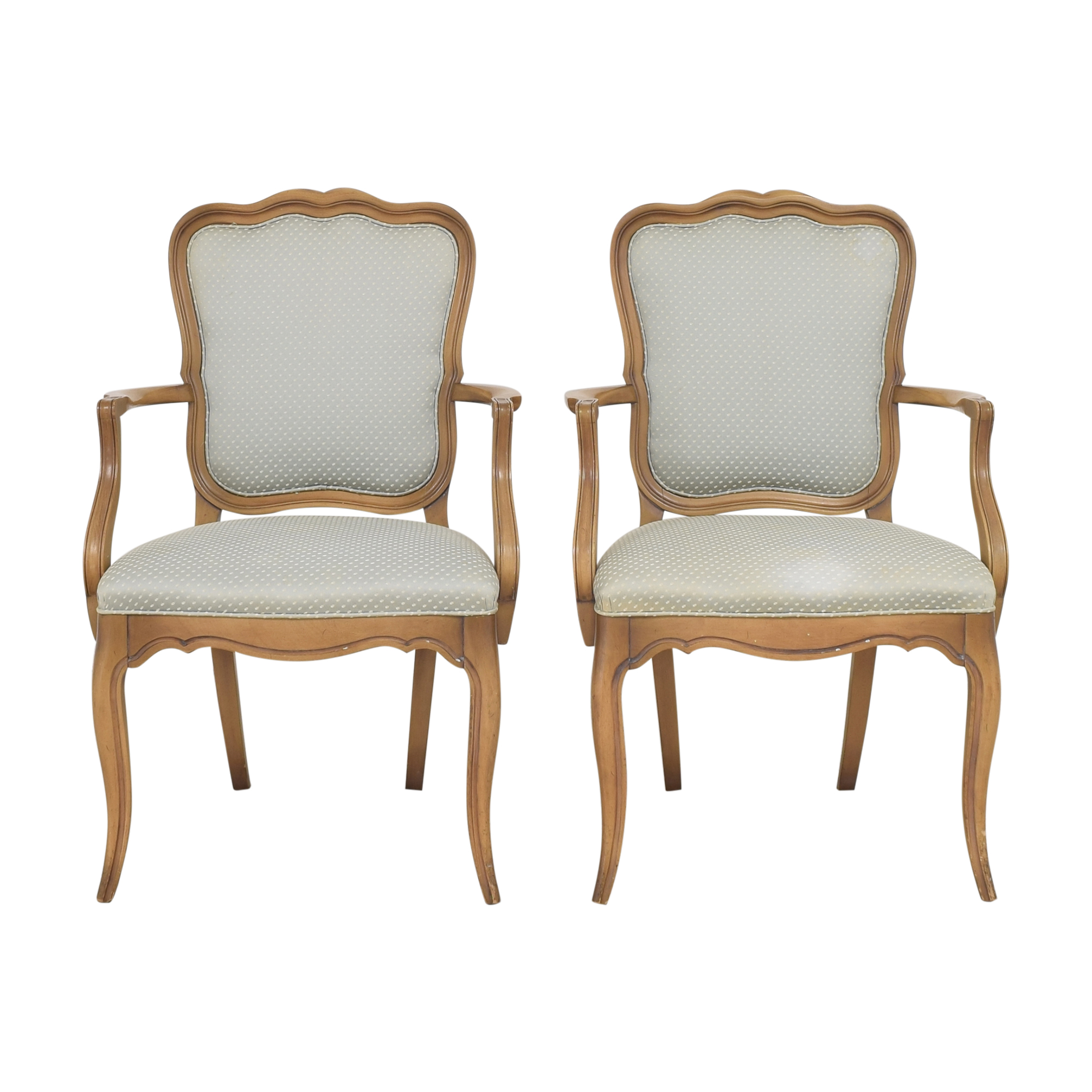White Fine Furniture White Fine Furniture French Provincial-Style Dining Arm Chairs