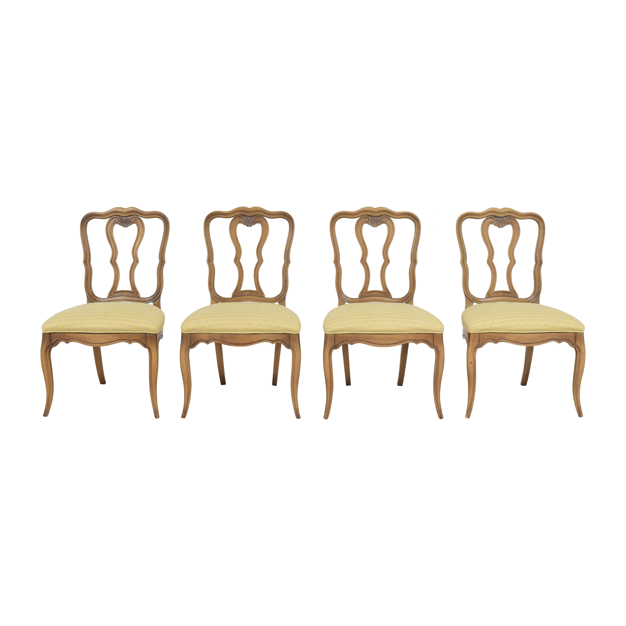 White Fine Furniture White Fine Furniture French Provincial-Style Dining Chairs brown & yellow
